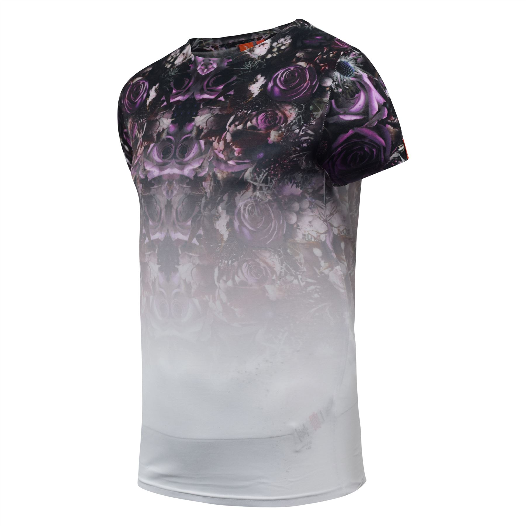 Mens-T-Shirt-Juice-Floral-Print-Flower-Crew-Neck-Tee-Top thumbnail 23