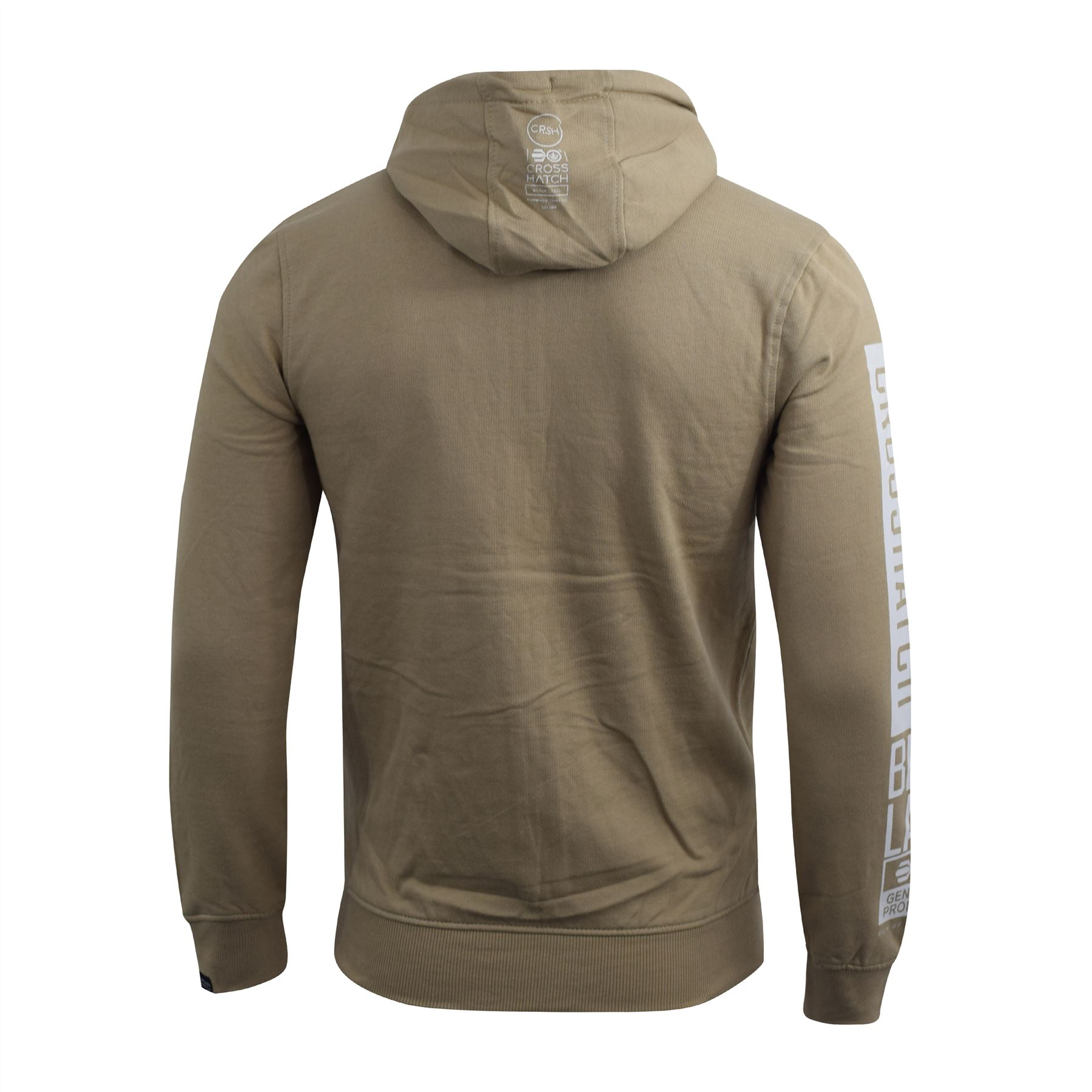 Mens-Crosshatch-Hoodie-Thrive-Full-Zip-Hoody-Pullover-Sweatshirt thumbnail 10