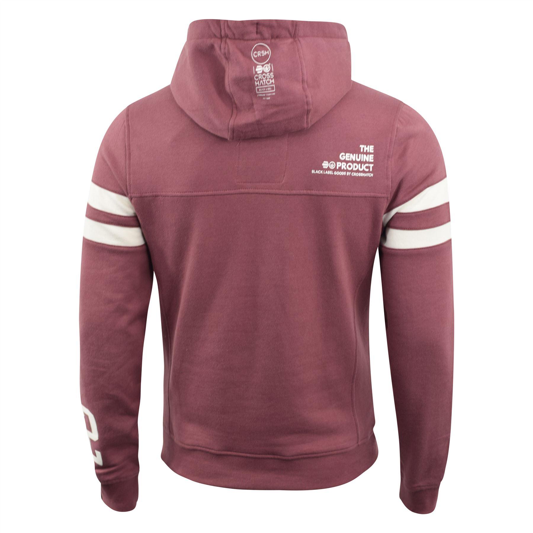 Mens-Hoodie-Crosshatch-Clothing-Sweatshirt-Hooded-Jumper-Top-Pullover-Cramform thumbnail 7