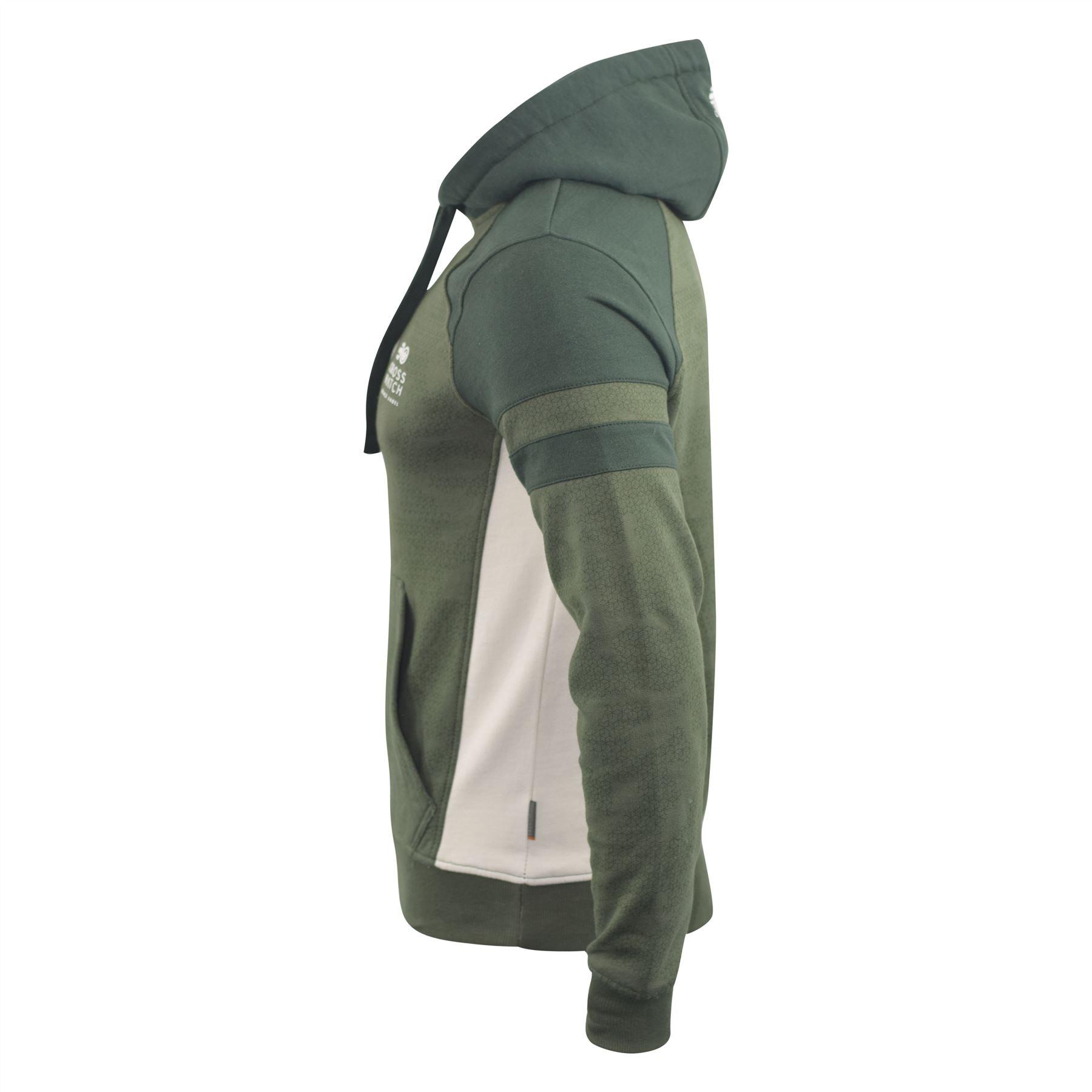 Mens-Hoodie-Crosshatch-Sweatshirt-Hooded-Jumper-Top-Pullover-Kirknewton thumbnail 6