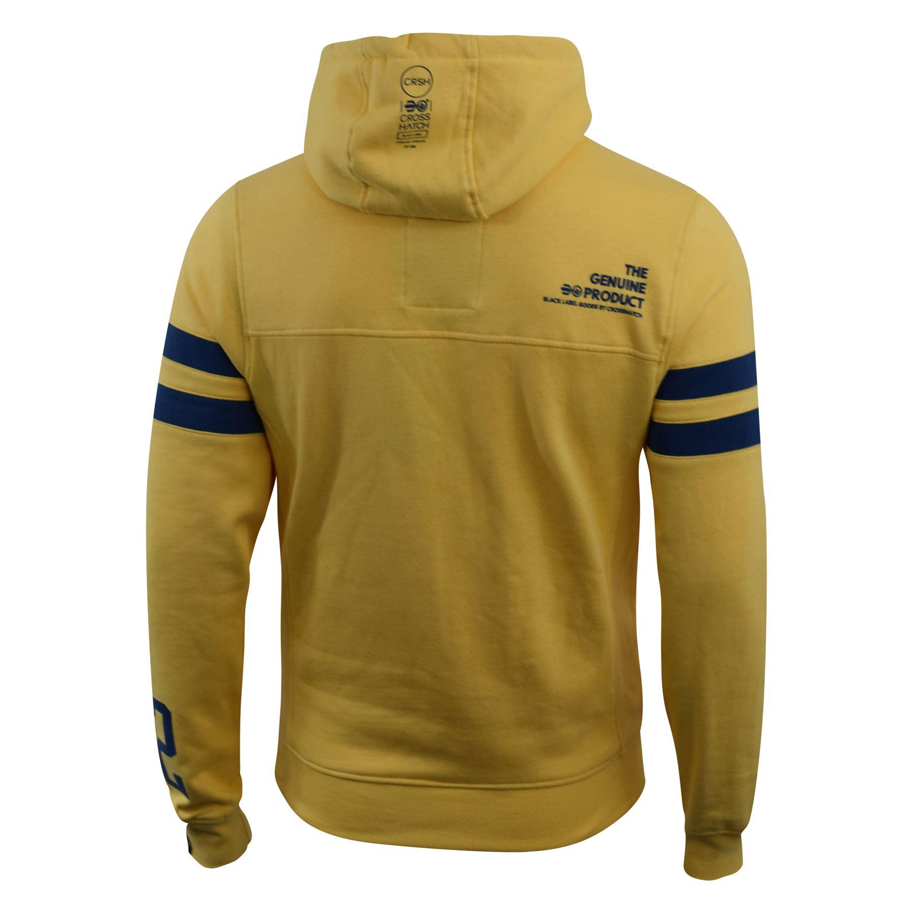 Mens-Hoodie-Crosshatch-Clothing-Sweatshirt-Hooded-Jumper-Top-Pullover-Cramform thumbnail 10