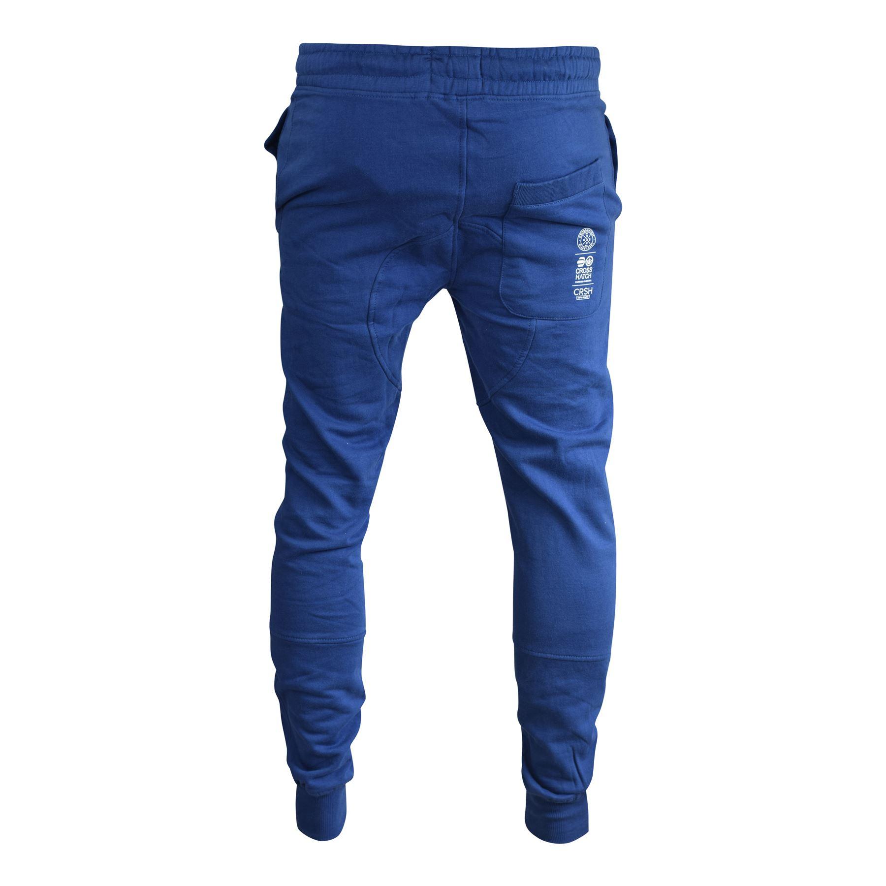 Para-Hombre-Pantalones-Basculador-Crosshatch-shacka-Flaca-Delgada-Chandal-Correr-Pantalones miniatura 11