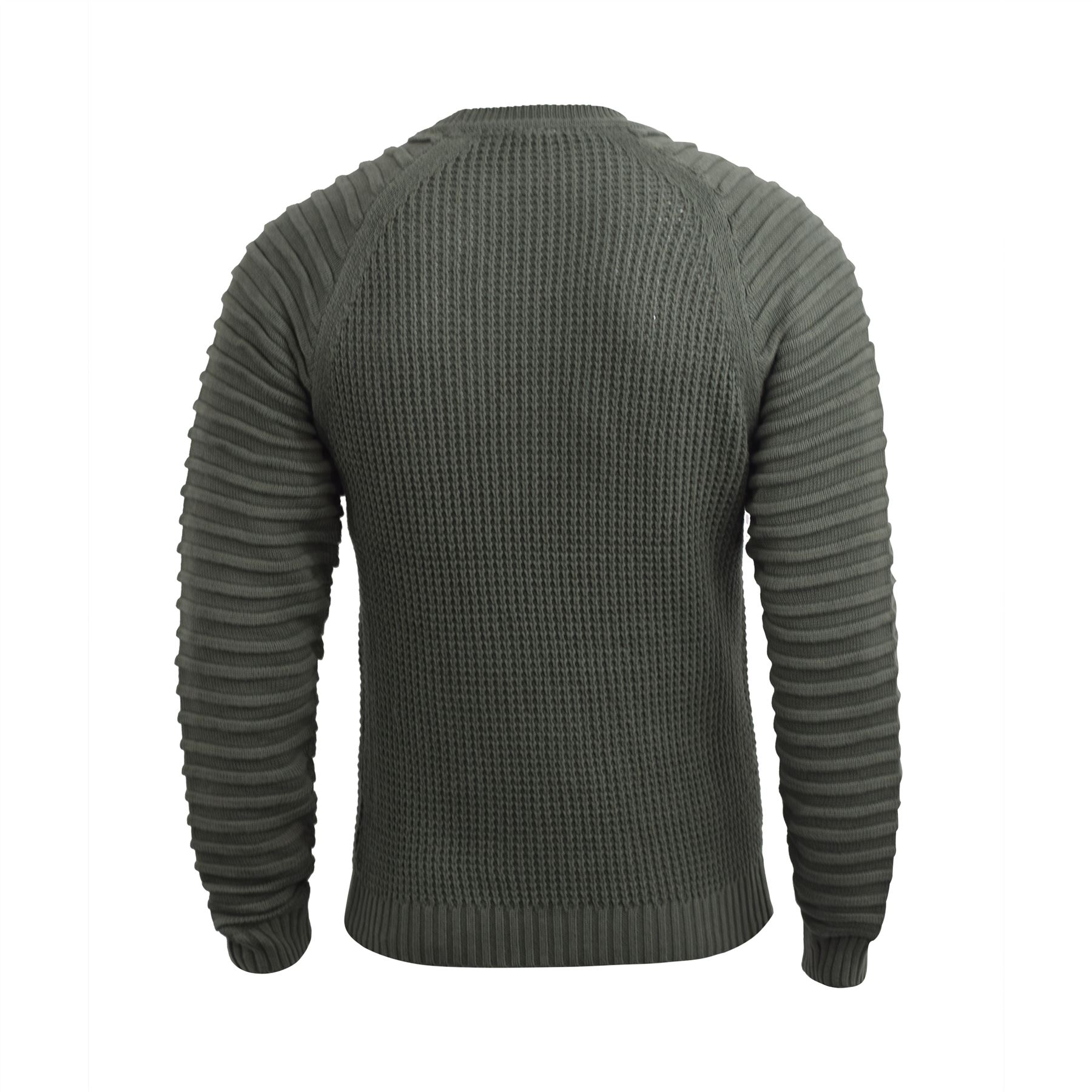 Mens-Knitwear-Crosshatch-Sweater-Top-Pullover-Knitted-Jumper thumbnail 3