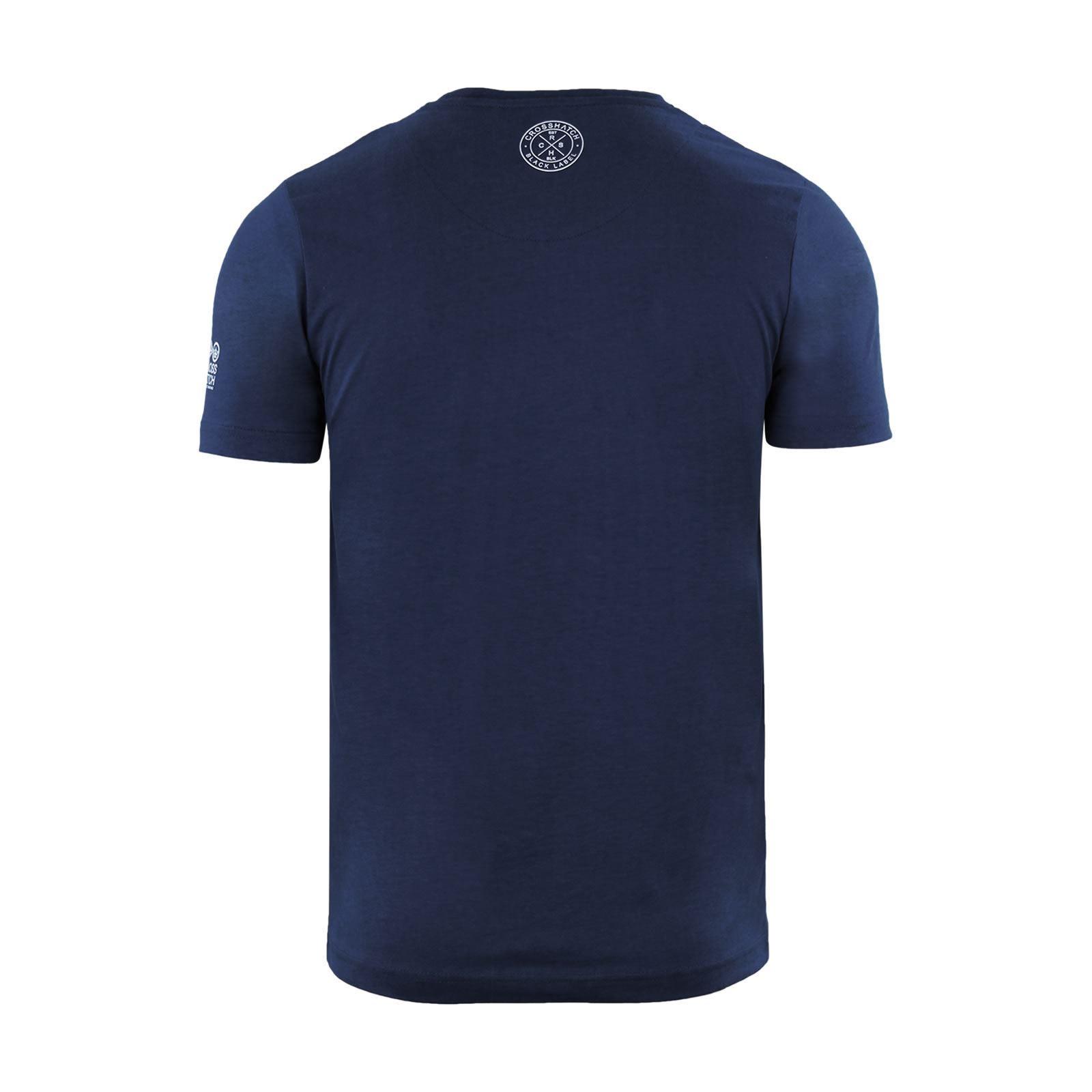 Para-Hombres-Crosshatch-Camiseta-Cuello-redondo-Prenda-para-el-torso-Camiseta-diagwol miniatura 9