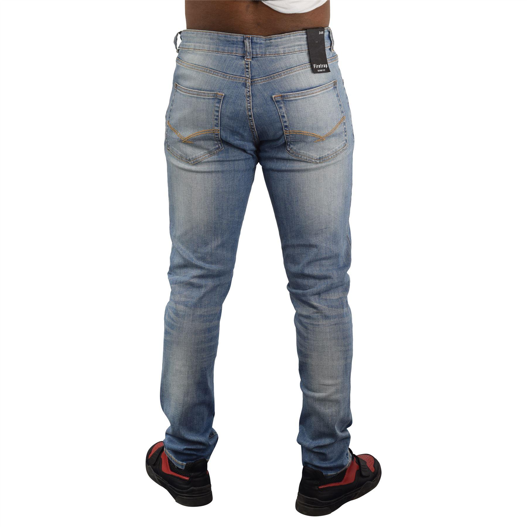 Nuevo-Para-Hombres-Firetrap-Jeans-skinny-fit-de-algodon-Pantalones-informales-Pantalones-de miniatura 3