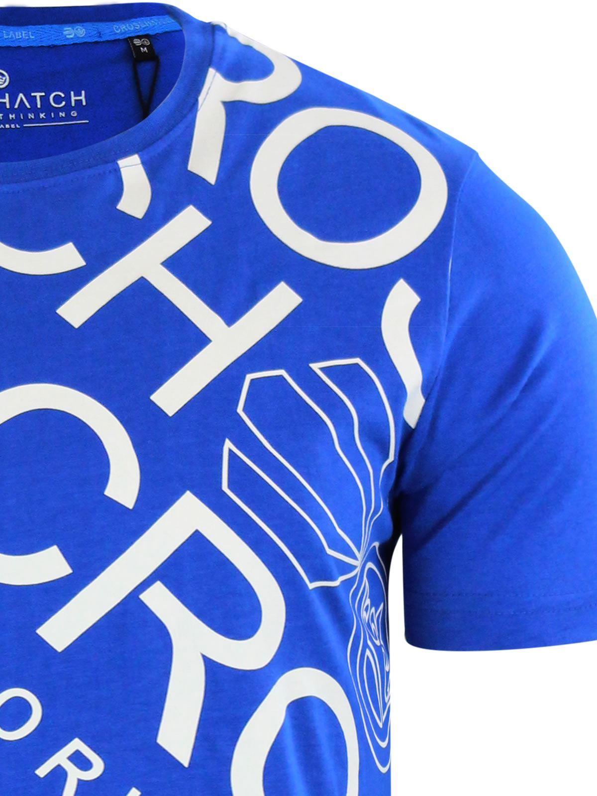 Para-Hombres-Crosshatch-Camiseta-Cuello-redondo-Prenda-para-el-torso-Camiseta-diagwol miniatura 7