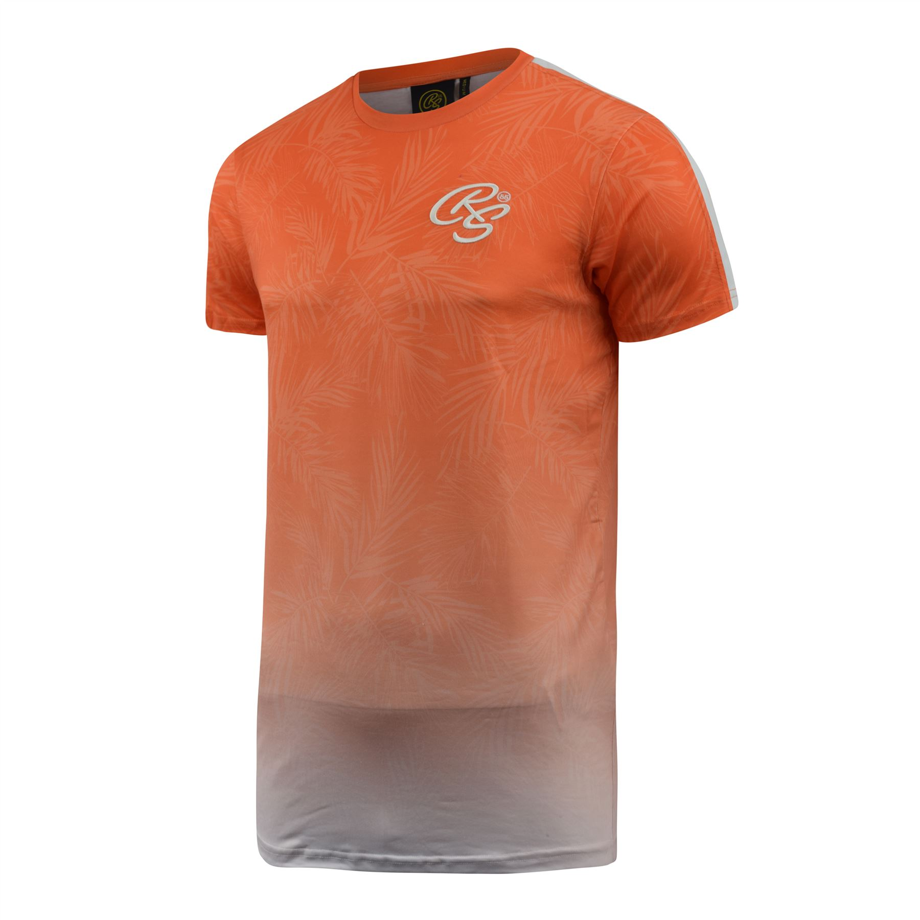 Mens-Crosshatch-T-Shirt-Contrast-Short-Sleeve-Tee-Top-Salifornia thumbnail 9