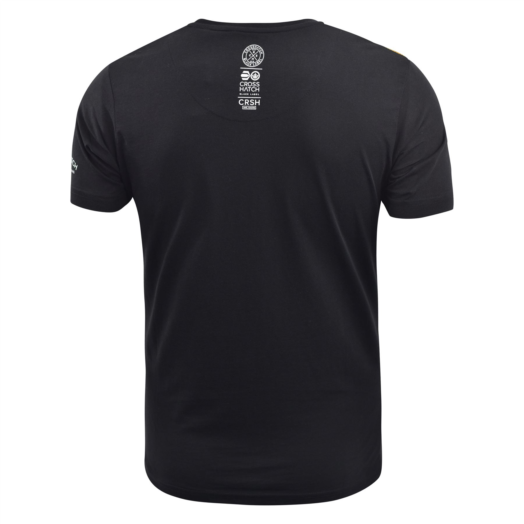 Mens-T-Shirt-Crosshatch-Short-Sleeve-Crew-Neck-Graphic-Tee-Top thumbnail 6