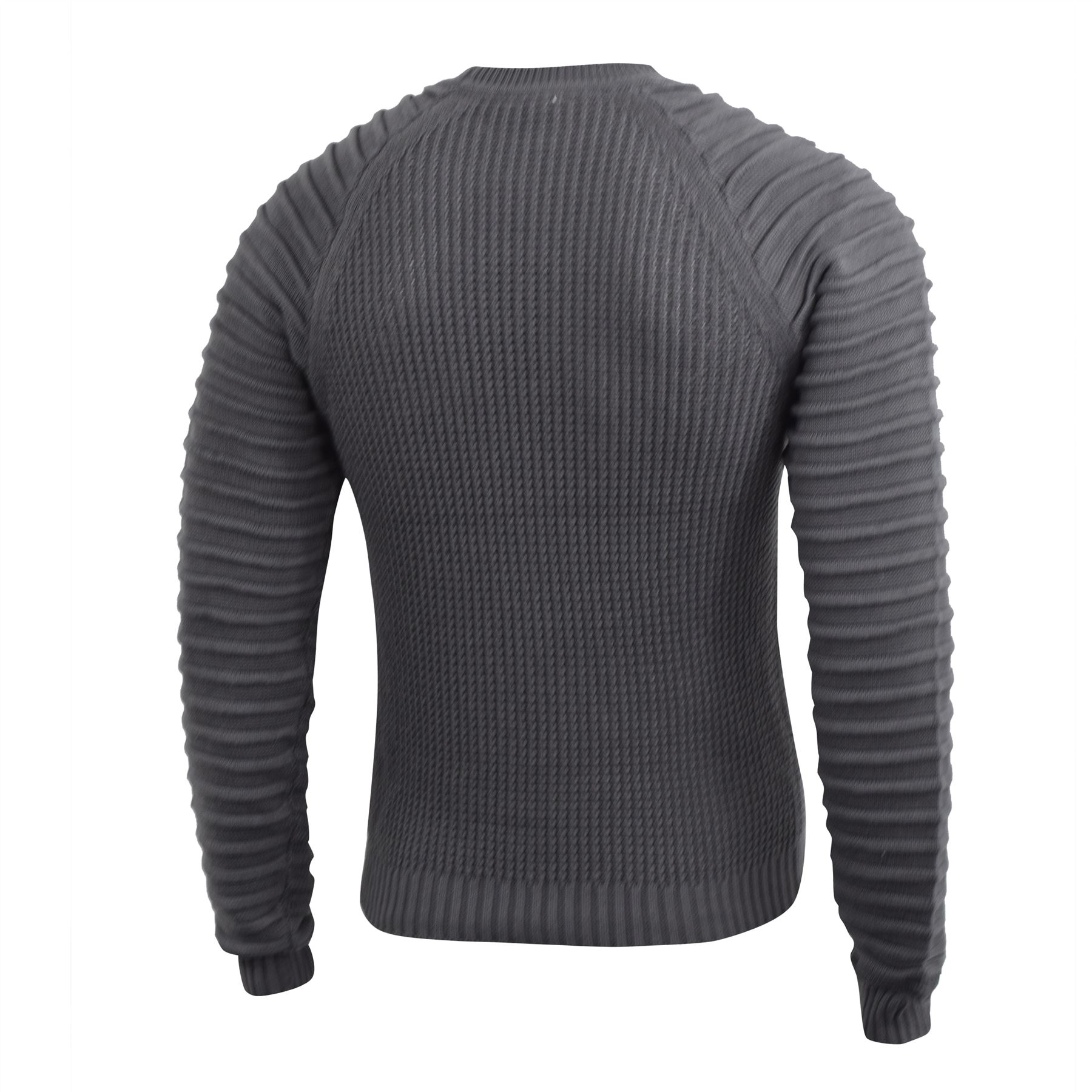 Mens-Knitwear-Crosshatch-Sweater-Top-Pullover-Knitted-Jumper thumbnail 7