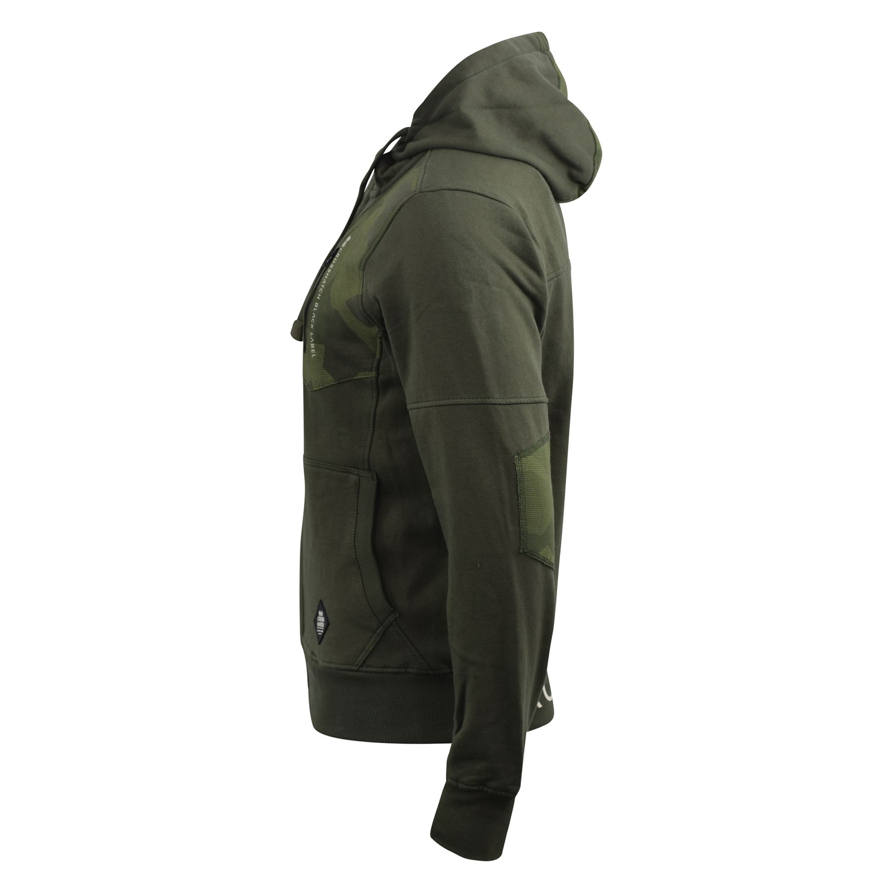 Mens-Hoodie-Crosshatch-Full-Zip-Sweatshirt-Hooded-Jumper-Top-Pullover-Radzim thumbnail 3