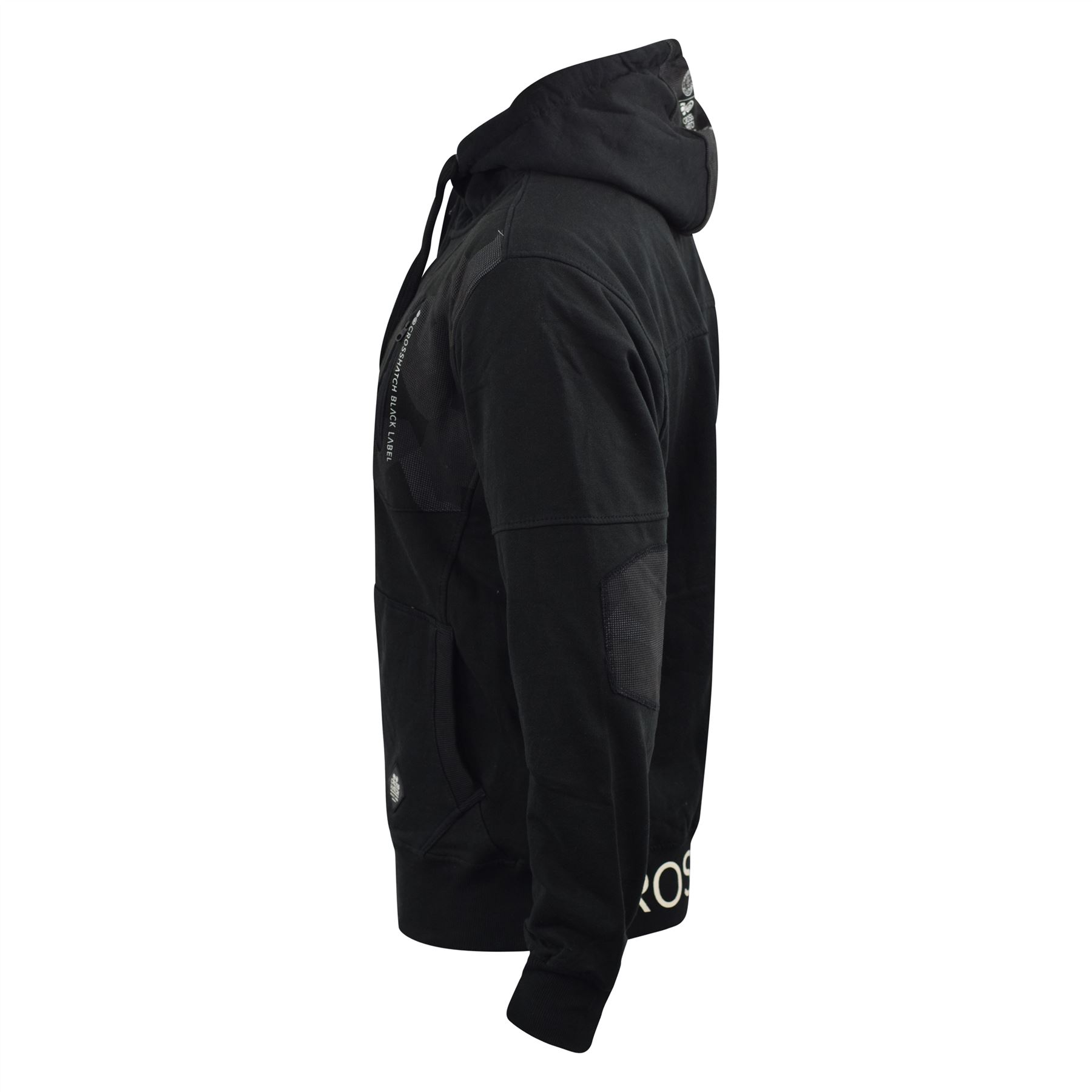 Mens-Hoodie-Crosshatch-Full-Zip-Sweatshirt-Hooded-Jumper-Top-Pullover-Radzim thumbnail 6