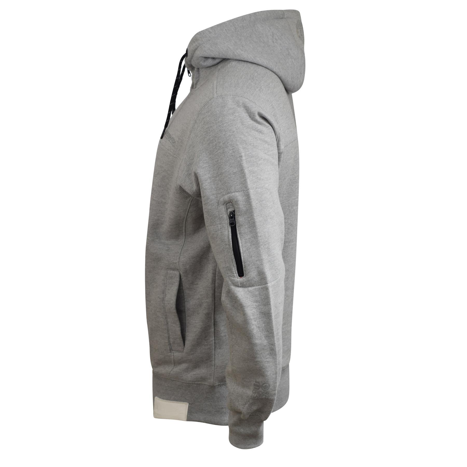 Mens-Hoodie-Crosshatch-Cravy-Sweatshirt-Hooded-Top thumbnail 6