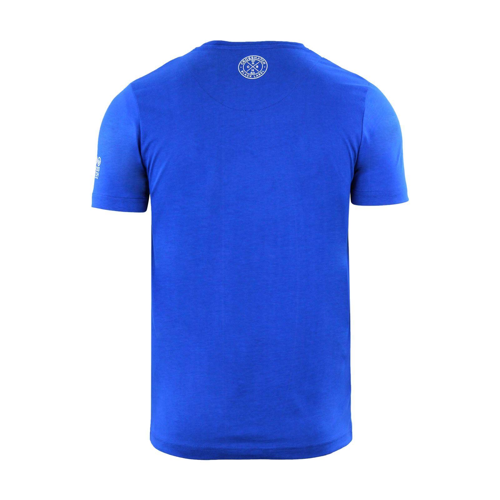 Para-Hombres-Crosshatch-Camiseta-Cuello-redondo-Prenda-para-el-torso-Camiseta-diagwol miniatura 6