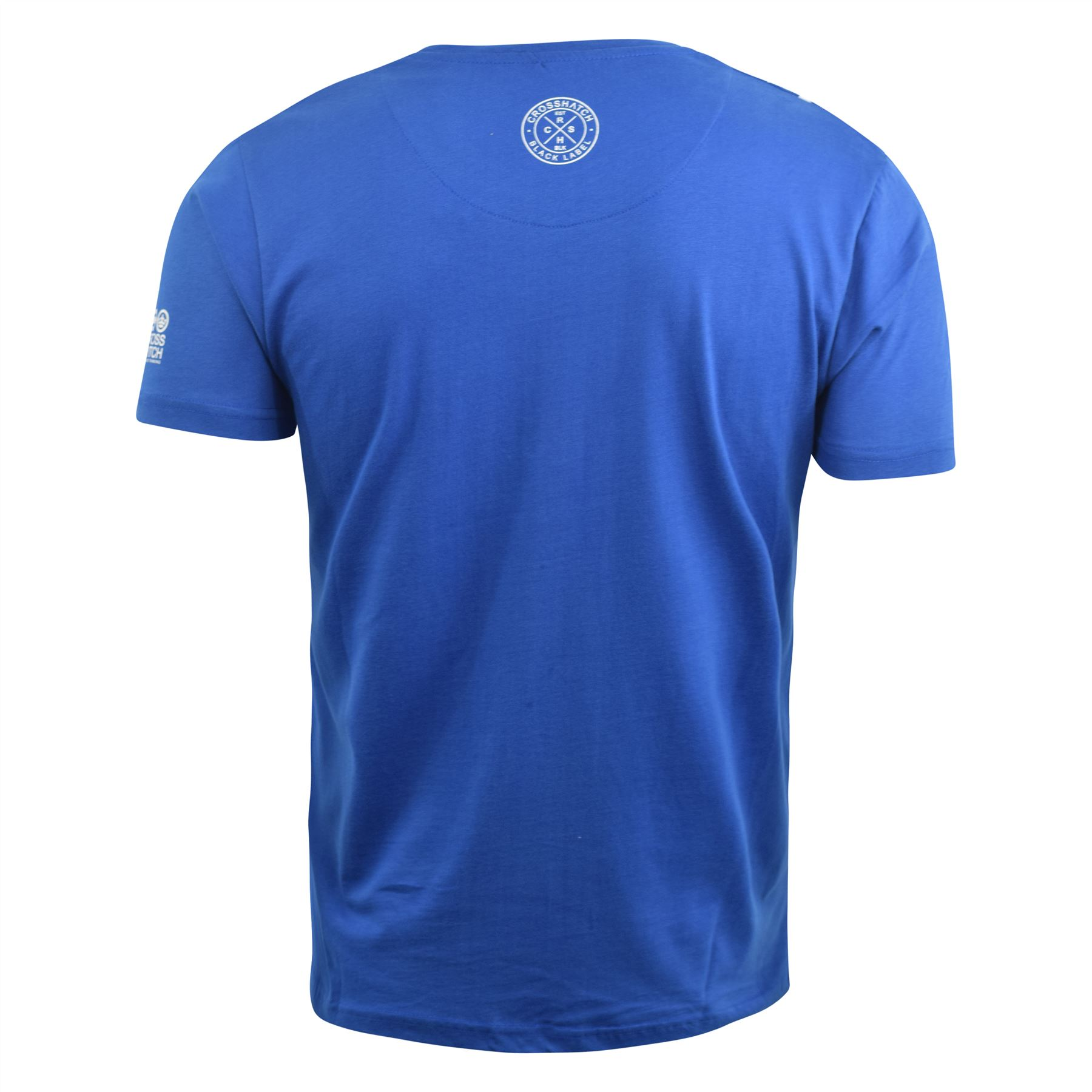 Para-Hombre-Crosshatch-Camiseta-Grafico-Cuello-Redondo-Manga-Corta-Camiseta-Top-wolvey miniatura 5