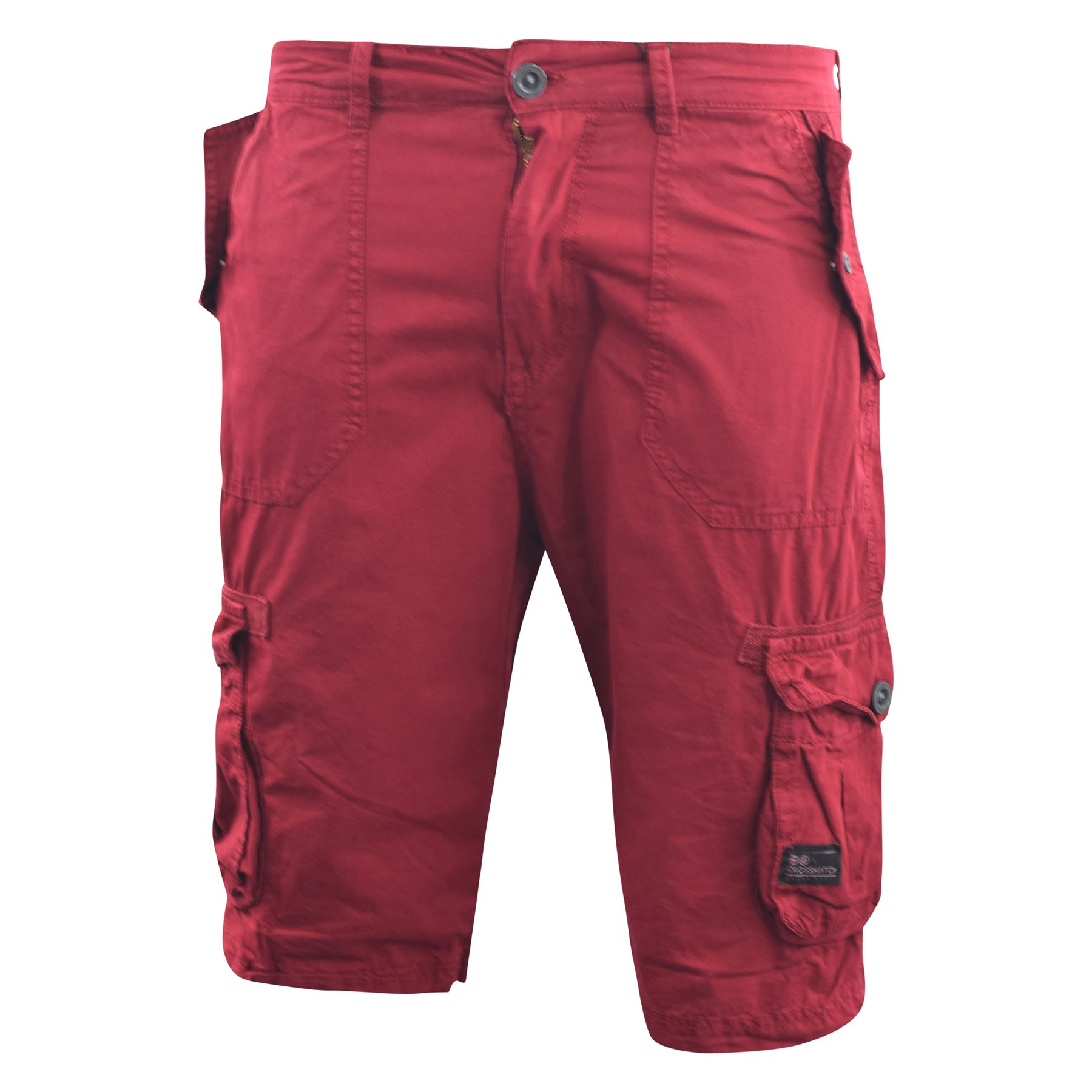 f56504c4a9 Mens Crosshatch Chinos Cargo Shorts Jeans Combat 3/4 Knee Length ...