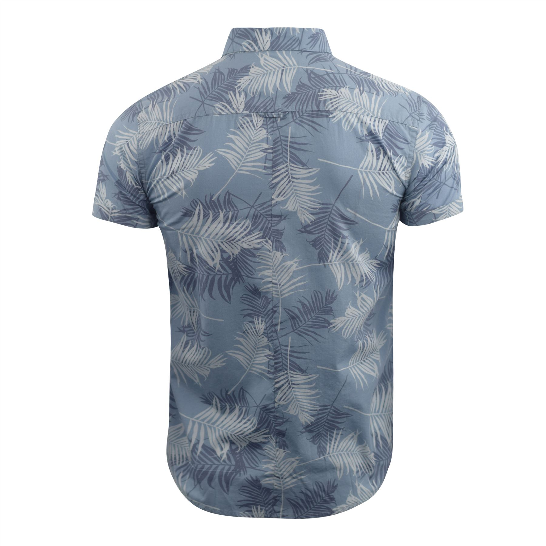 Mens-Floral-Shirt-Audley-Short-Sleeved-Cotton-Blend-Casual-Top thumbnail 5