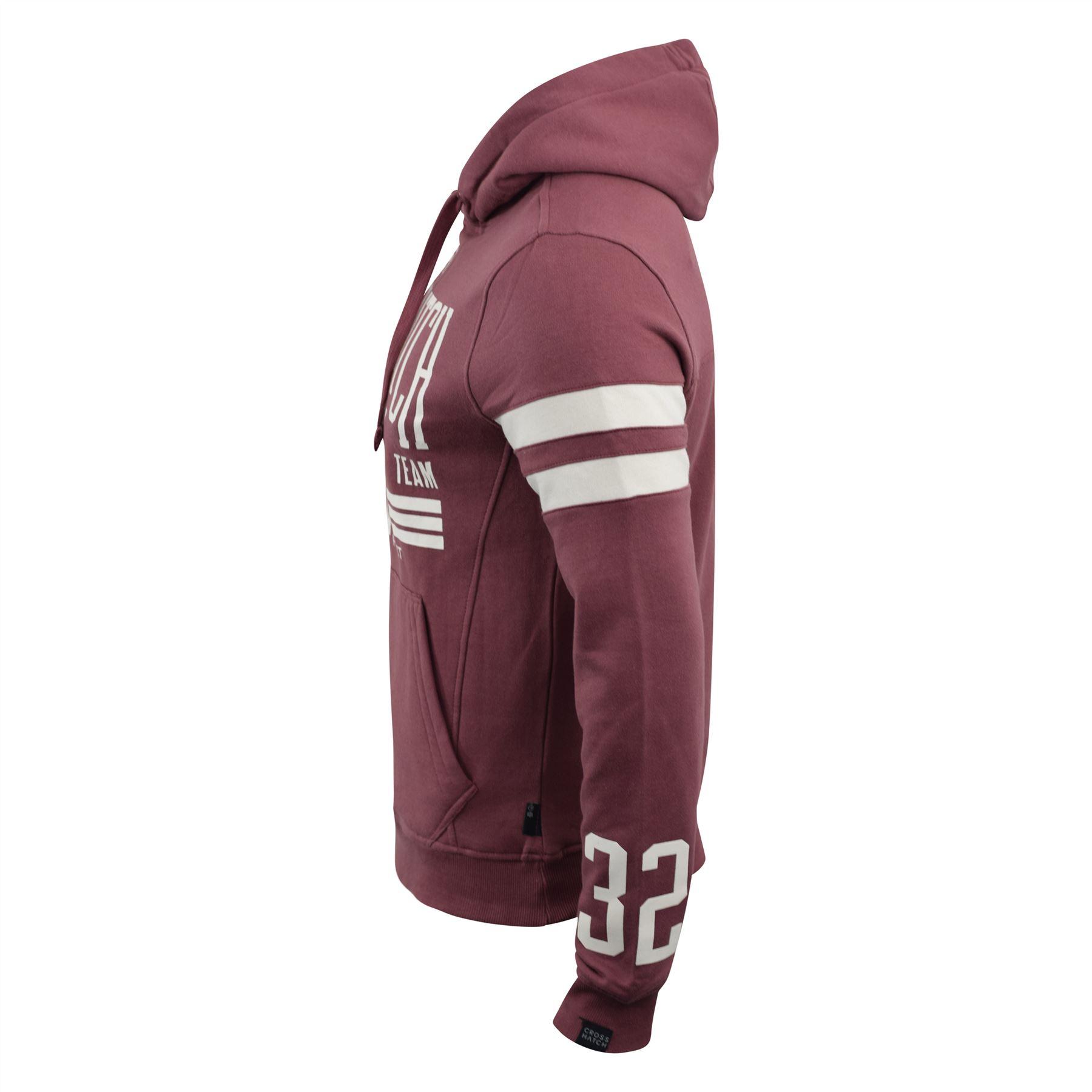 Mens-Hoodie-Crosshatch-Clothing-Sweatshirt-Hooded-Jumper-Top-Pullover-Cramform thumbnail 6