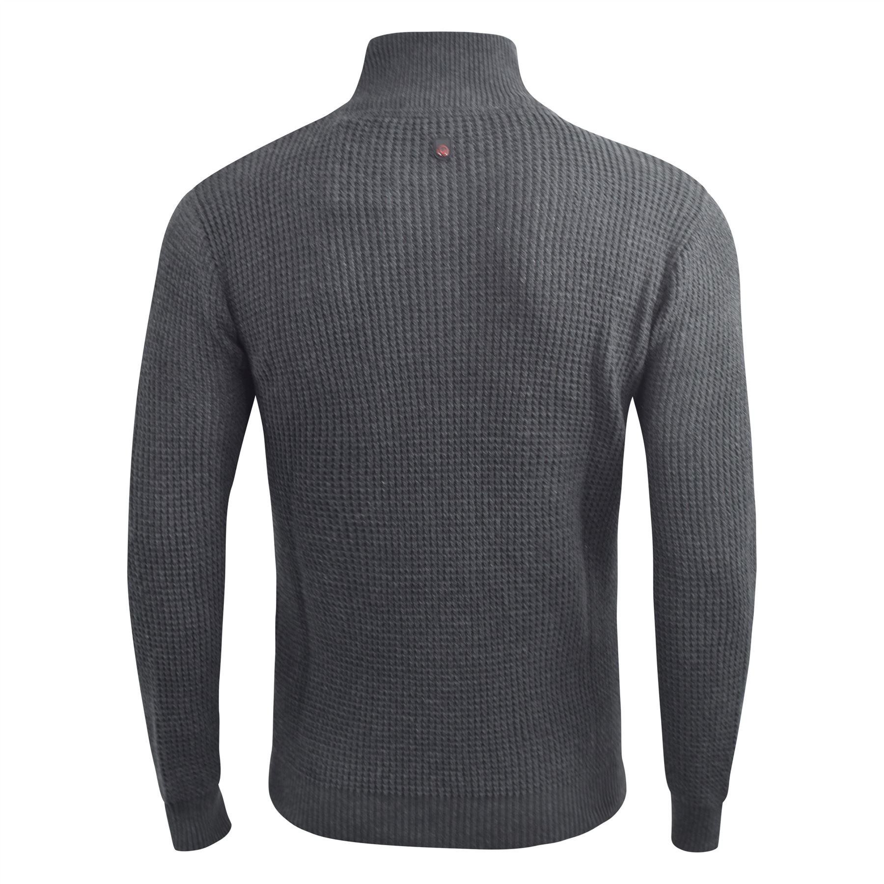 Duck and Cover Mens 1//4 Zip Jumper Cotton Button Knitwear Top Concealed Zip