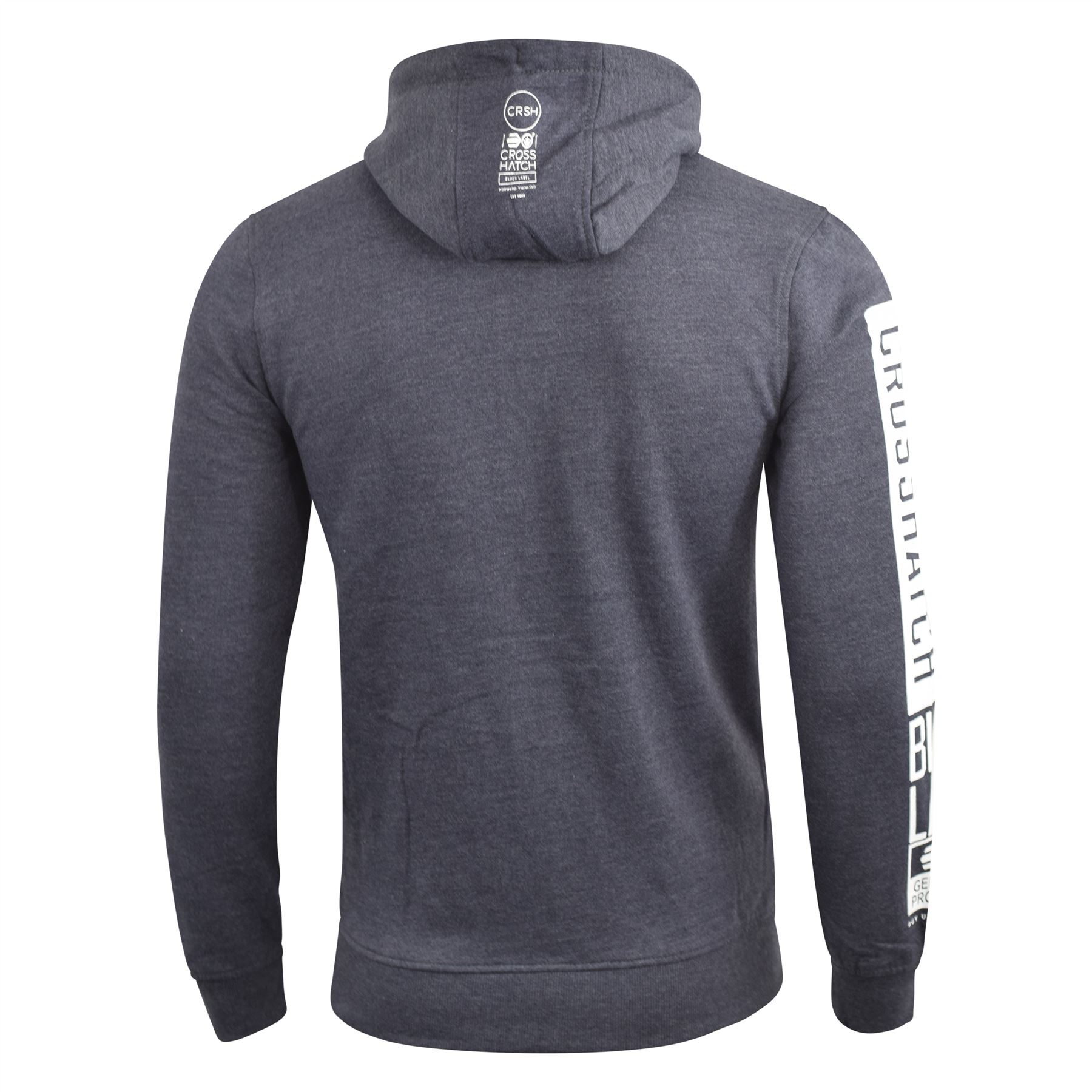 Mens-Crosshatch-Hoodie-Thrive-Full-Zip-Hoody-Pullover-Sweatshirt thumbnail 8