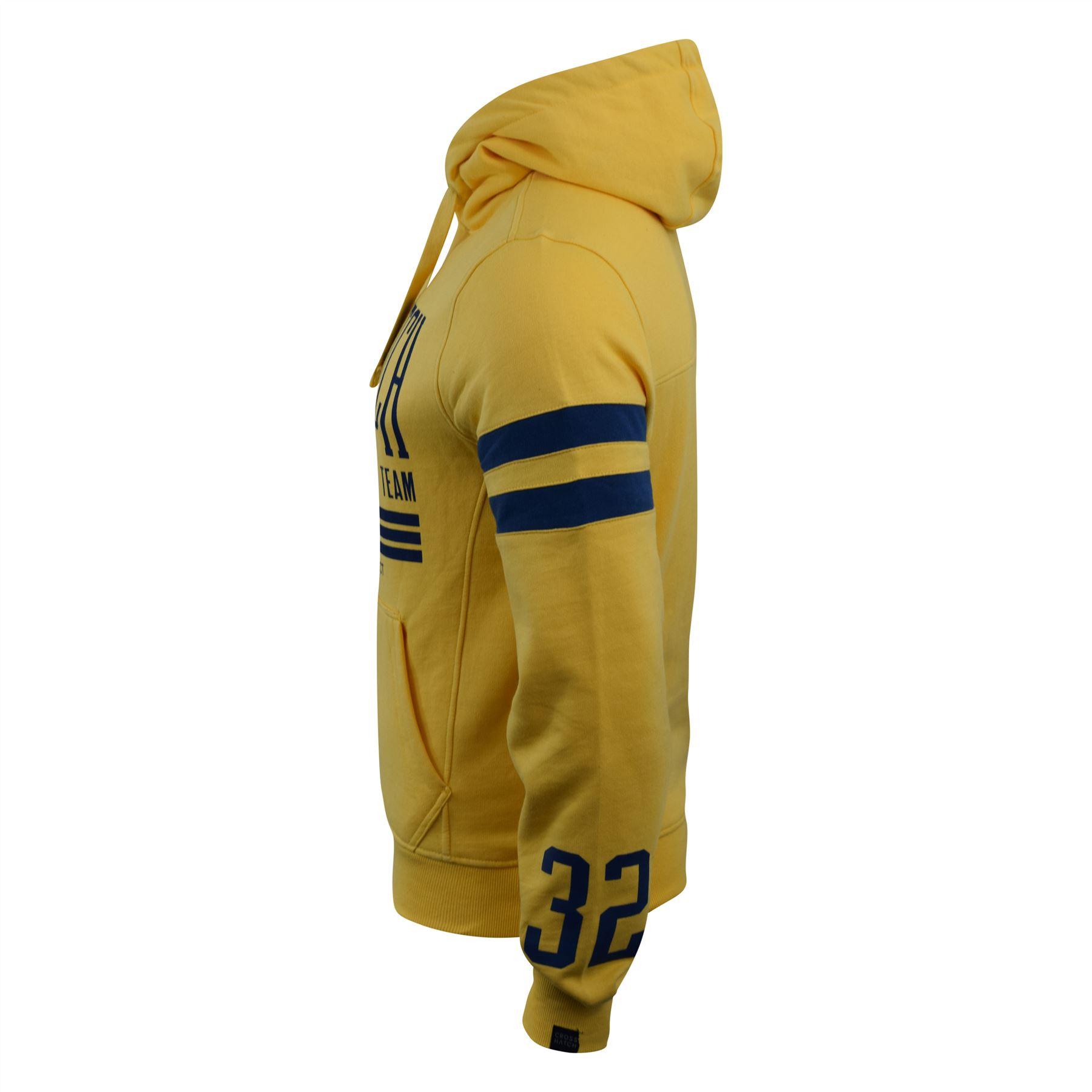 Mens-Hoodie-Crosshatch-Clothing-Sweatshirt-Hooded-Jumper-Top-Pullover-Cramform thumbnail 9