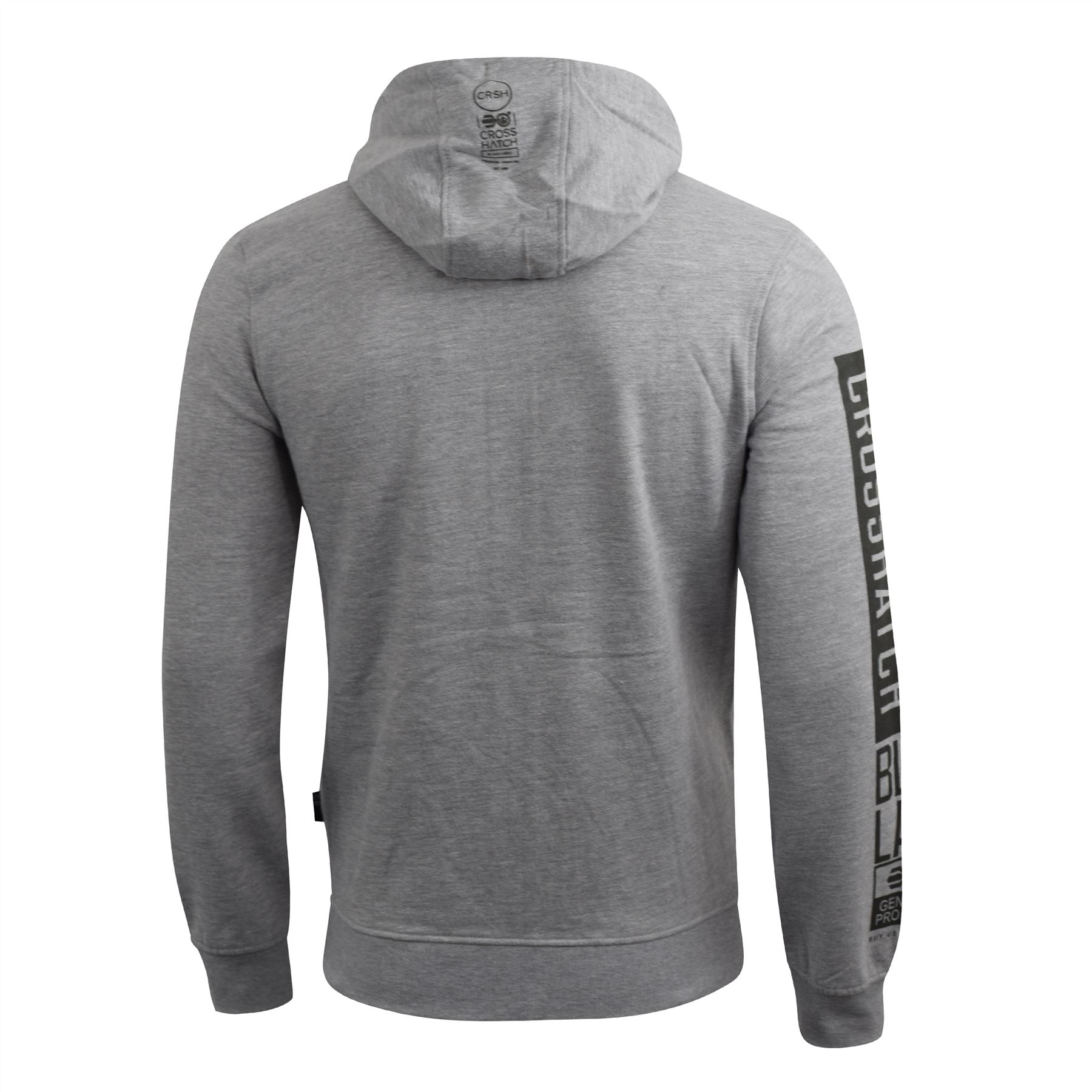 Mens-Crosshatch-Hoodie-Thrive-Full-Zip-Hoody-Pullover-Sweatshirt thumbnail 6