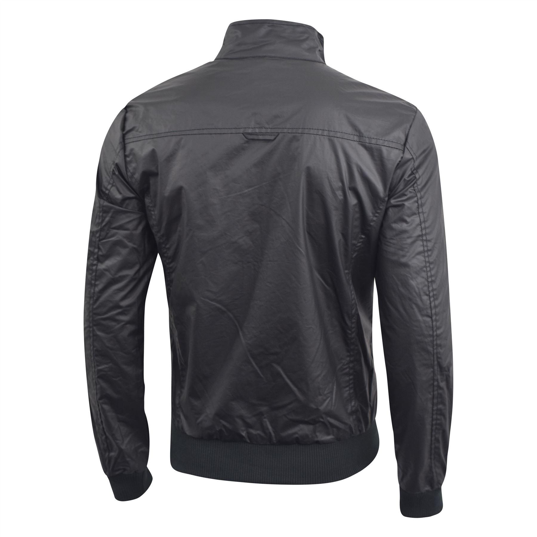 Mens Jacket Smith and Jones Hydraulic Harrington Biker Coat