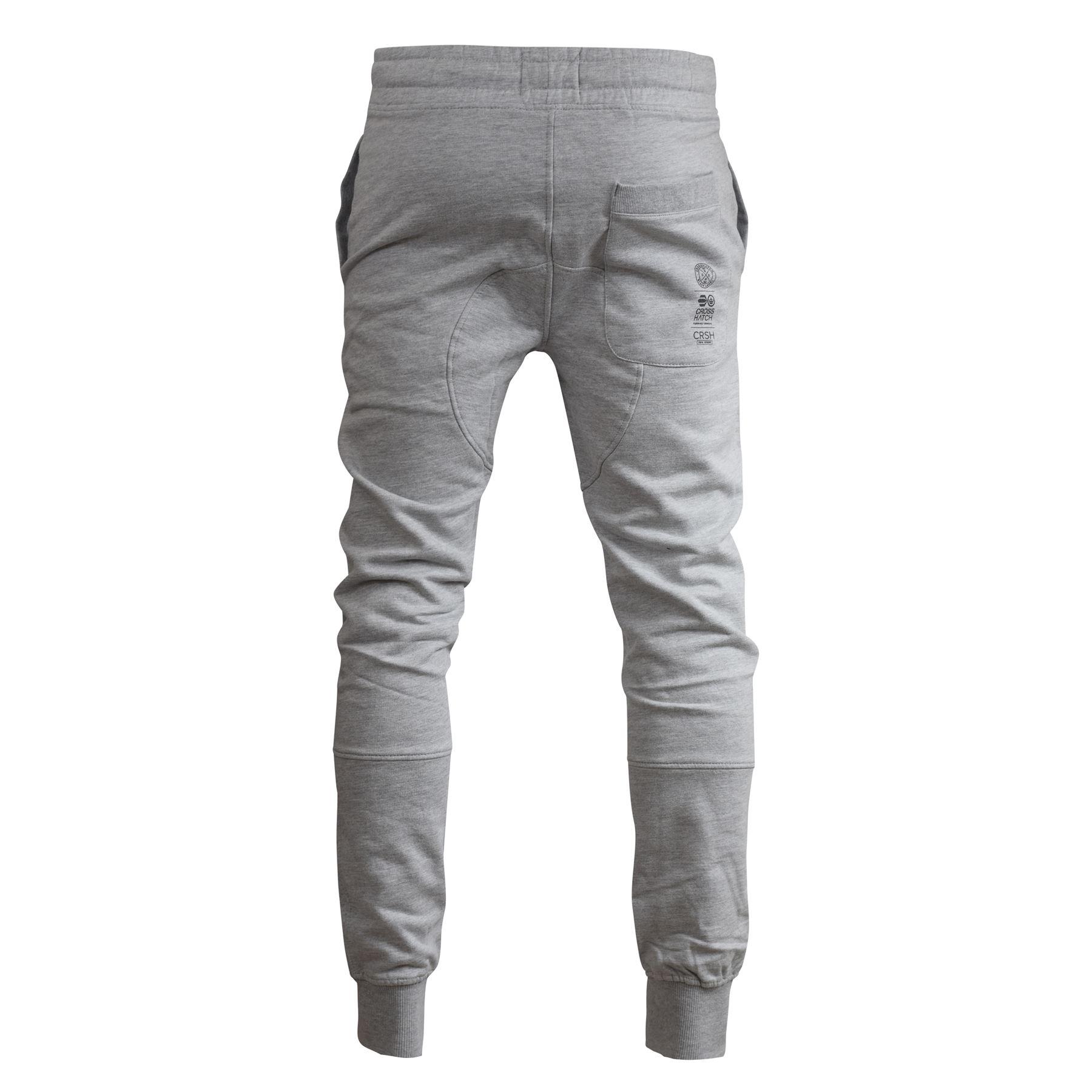 Para-Hombre-Pantalones-Basculador-Crosshatch-shacka-Flaca-Delgada-Chandal-Correr-Pantalones miniatura 13