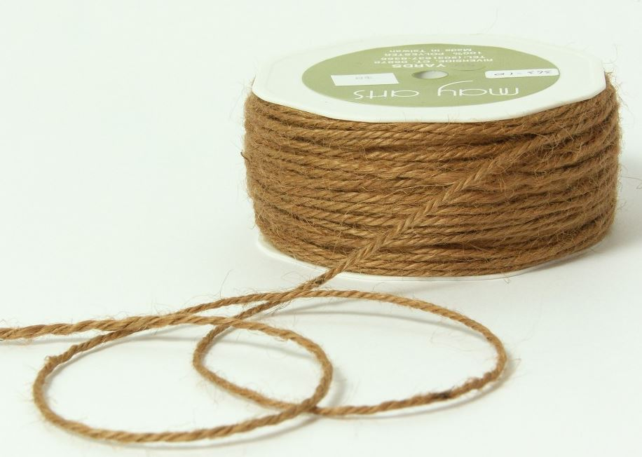 twisted burlap hessian jute bow craft gift wrap string