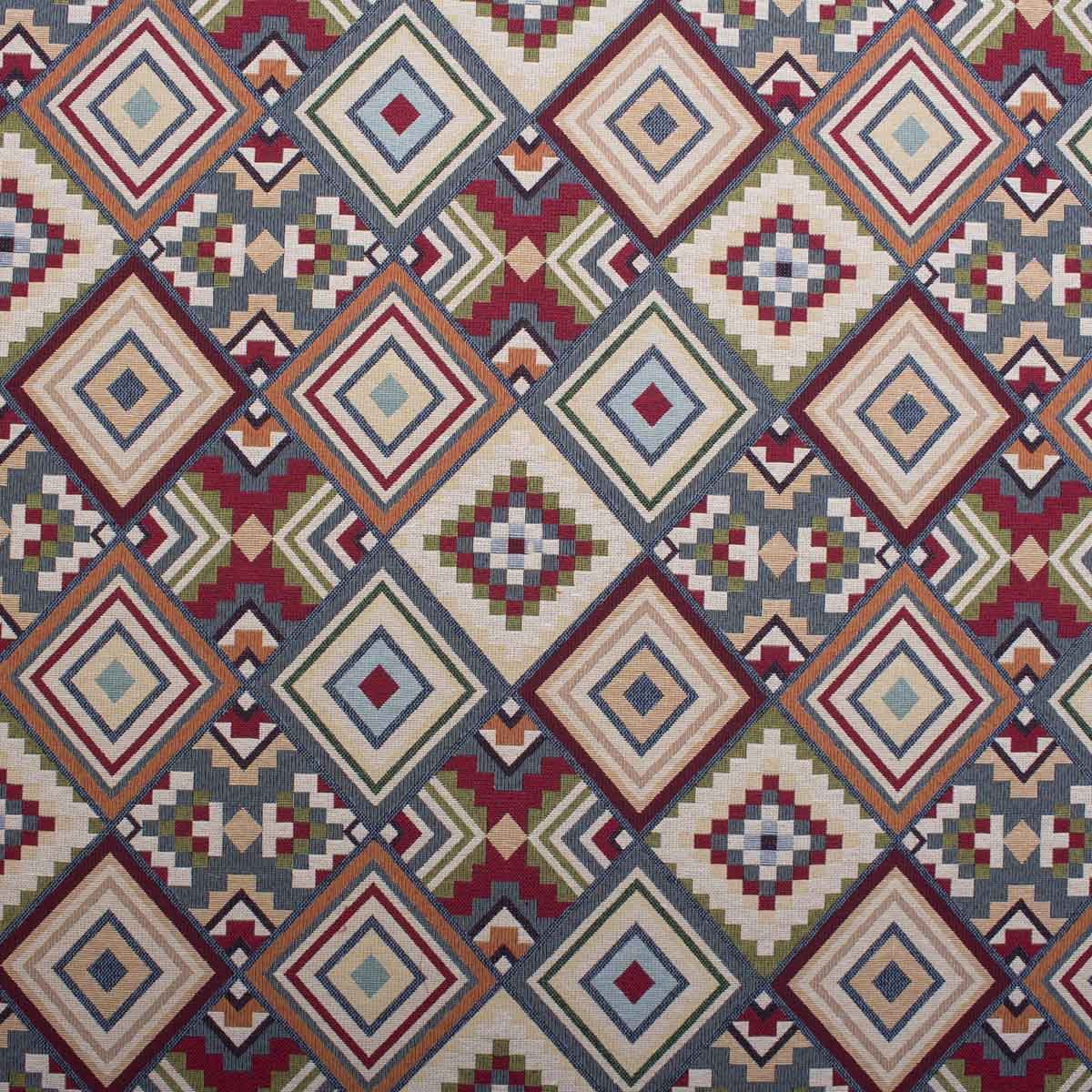 World of Aztec Bright Tapestry Geometric Pattern Upholstery ...