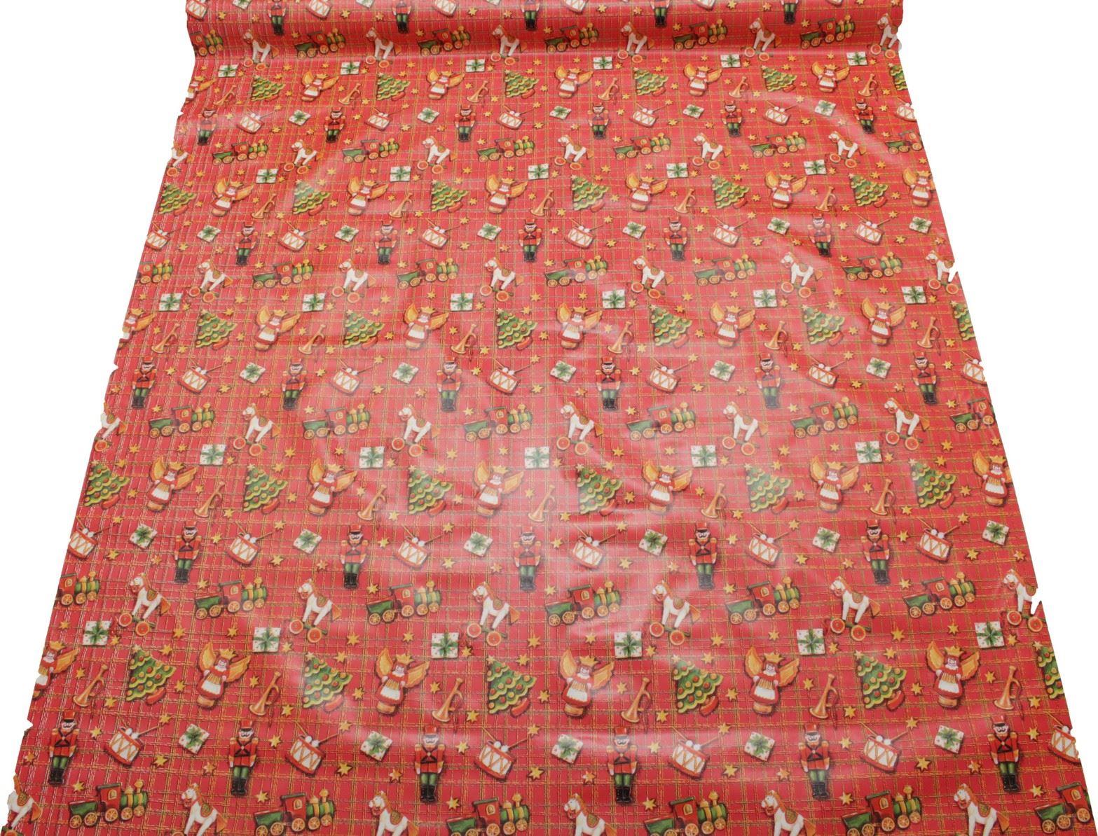 thumbnail 37 - CHRISTMAS PVC OILCLOTH VINYL FABRIC XMAS KITCHEN TABLE WIPECLEAN TABLECLOTHS