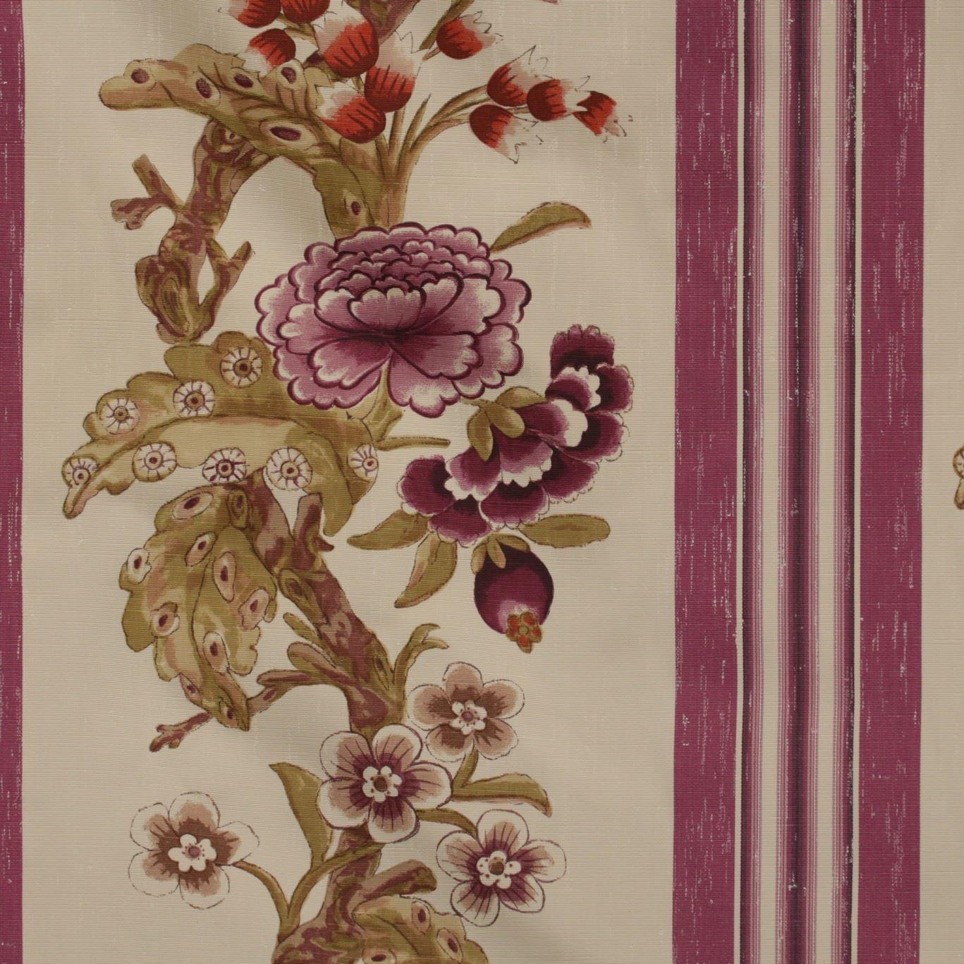 Zoffany Designer 18th Century Montfleury Purple Floral Stripe