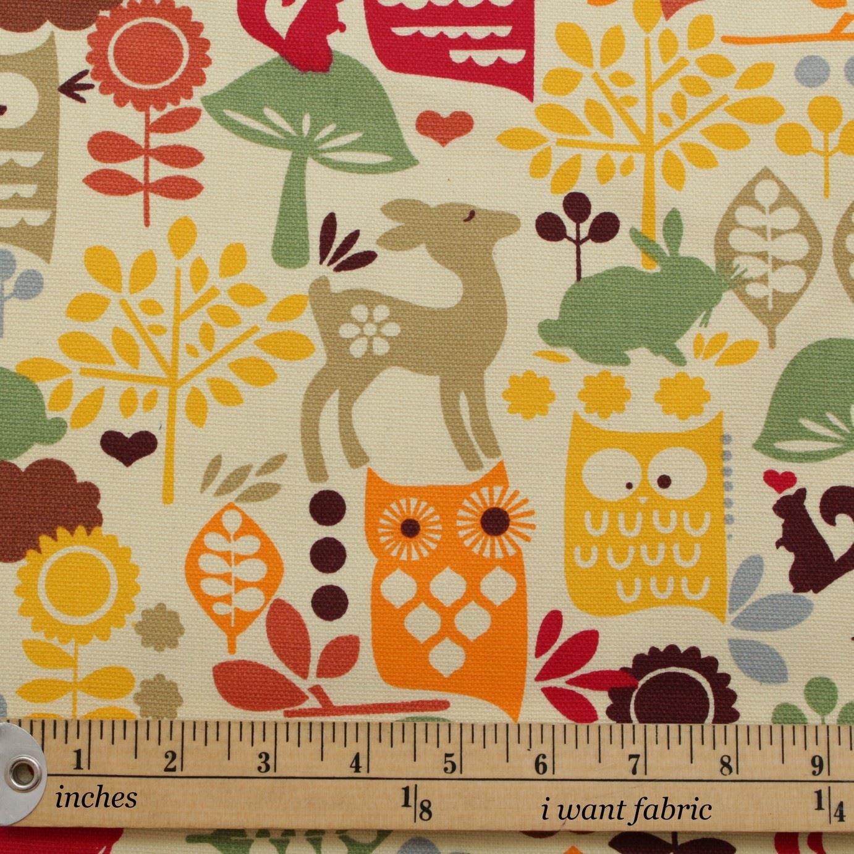 thumbnail 60 - 100% Heavy Cotton Panama Printed Childrens Curtain Cushion Upholstery Fabric