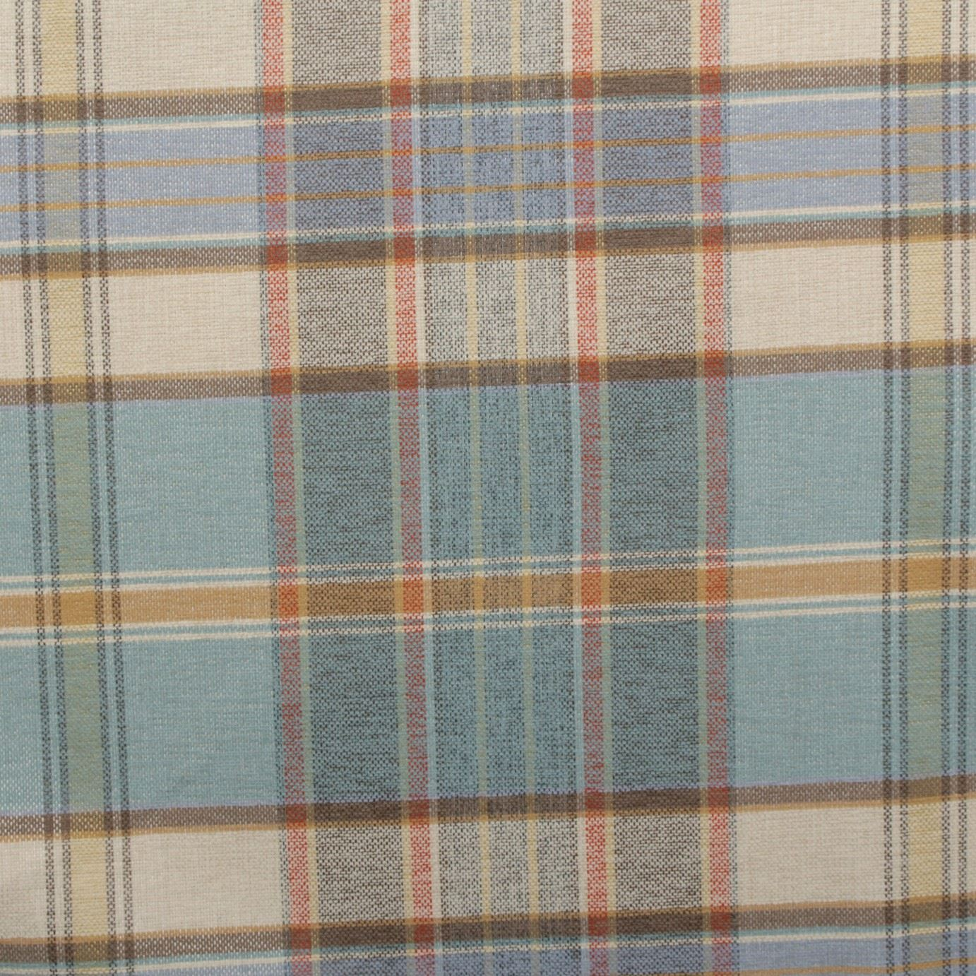 Designer Discount Linen Look Tartan Check Plaid Curtain