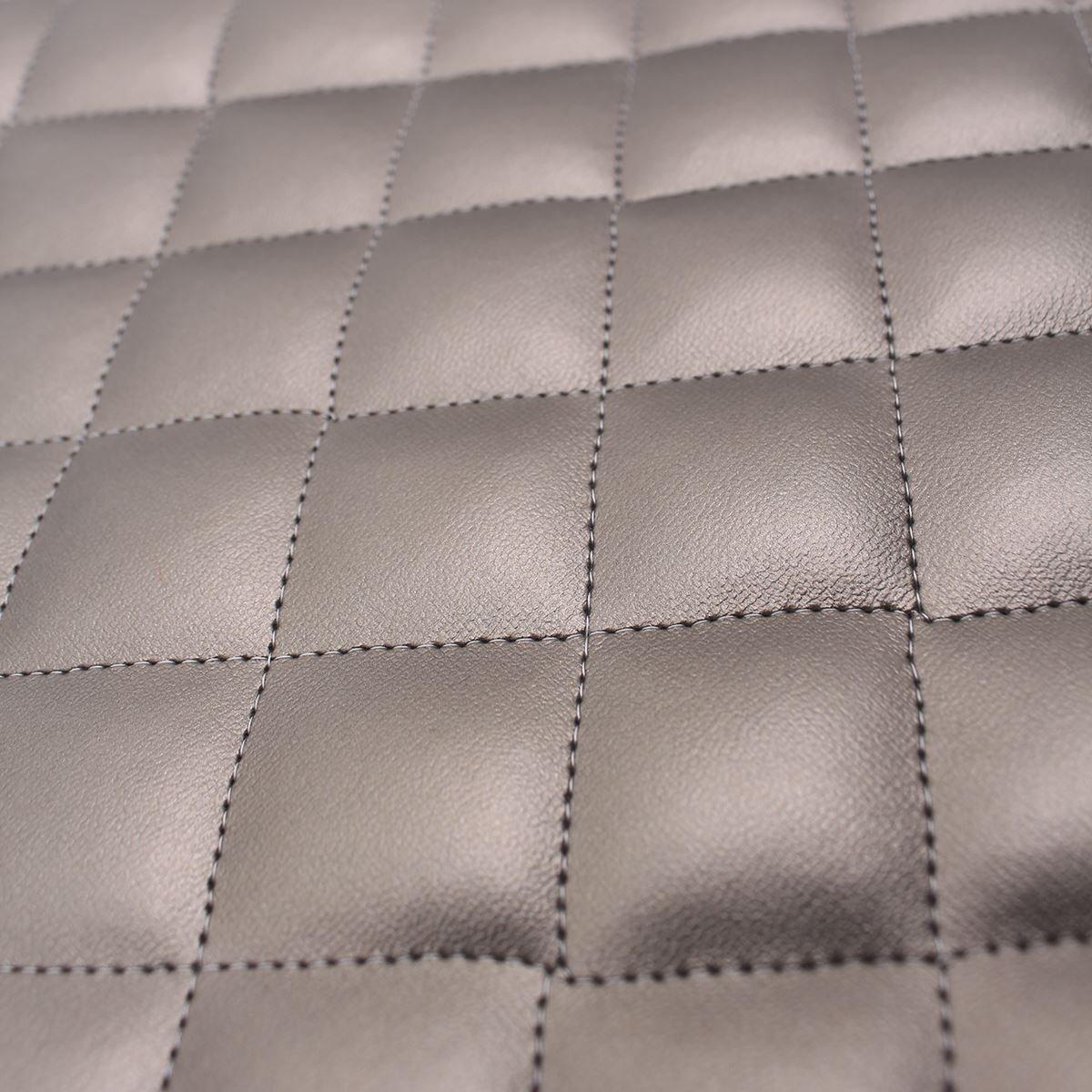 thumbnail 32 - Quilted leather Diamond Padded Cushion Faux Leather Interior Upholstery Fabric