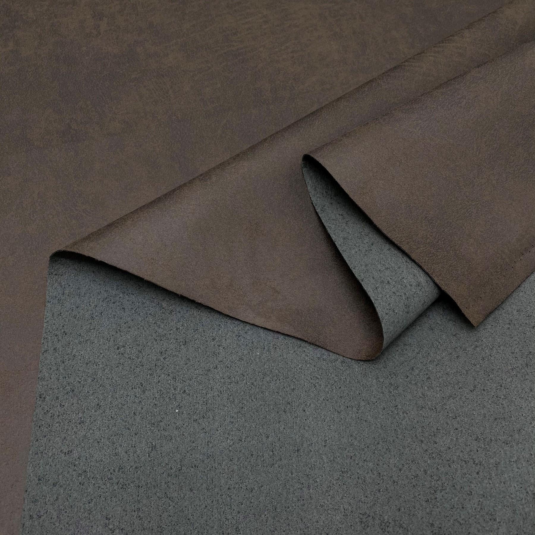 thumbnail 29 - AGED BROWN DISTRESSED ANTIQUED SUEDE FAUX LEATHER LEATHERETTE UPHOLSTERY FABRIC