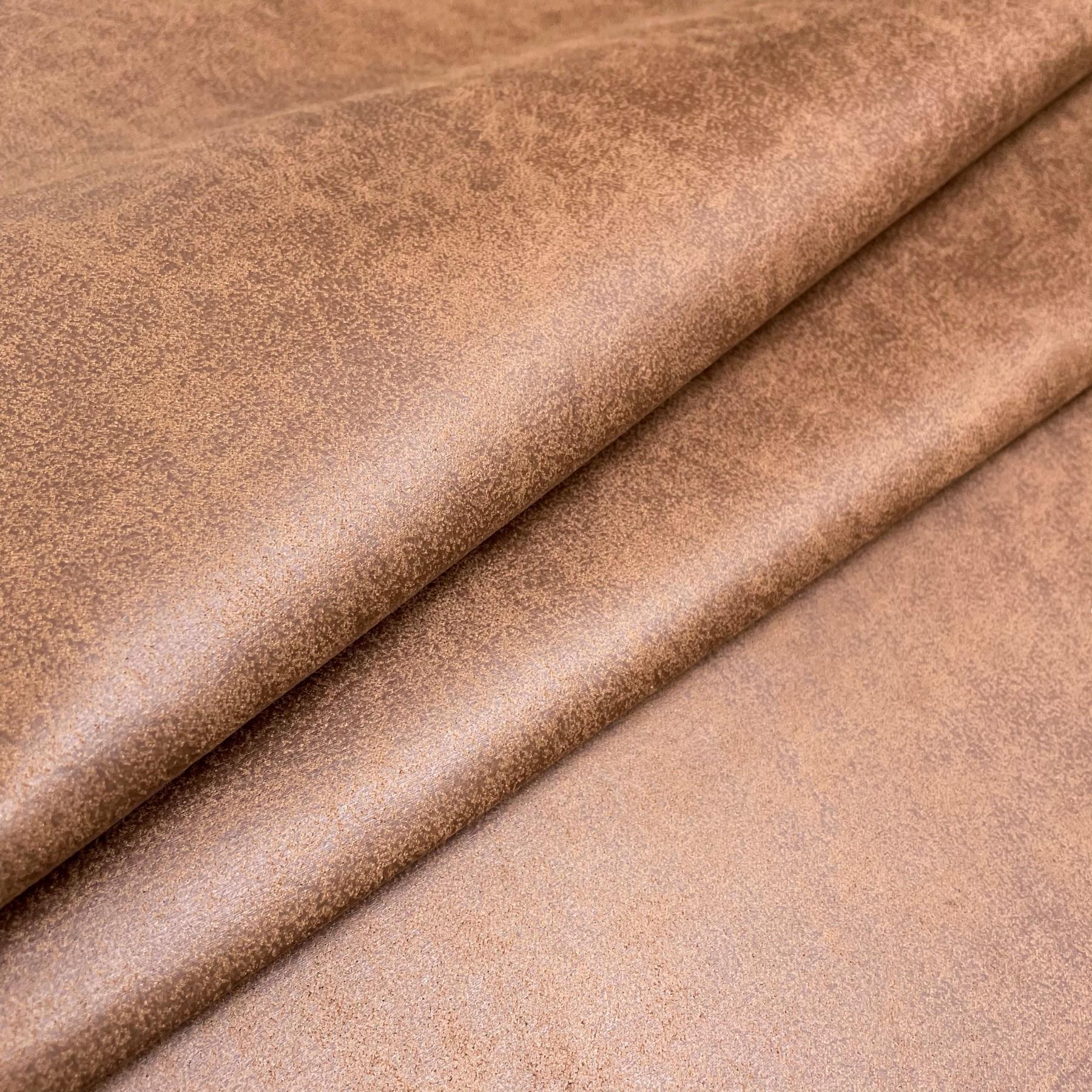 thumbnail 47 - AGED BROWN DISTRESSED ANTIQUED SUEDE FAUX LEATHER LEATHERETTE UPHOLSTERY FABRIC