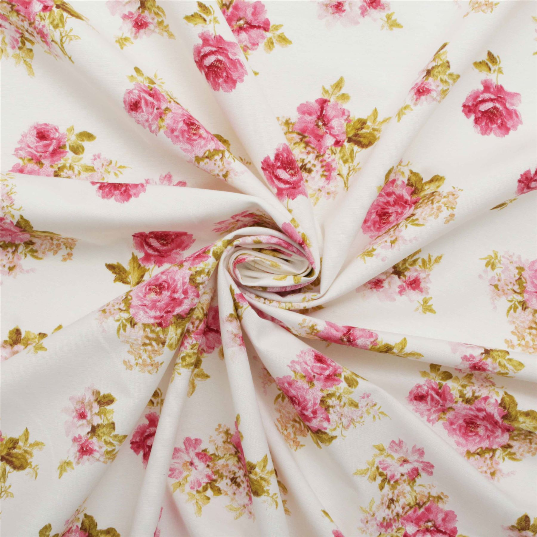 Kitchen Curtains Fabric Vintage Kitchen Fabric Chintz: Vintage Chintz Shabby Roses Print Retro 100% Cotton Curtain Upholstery Fabric