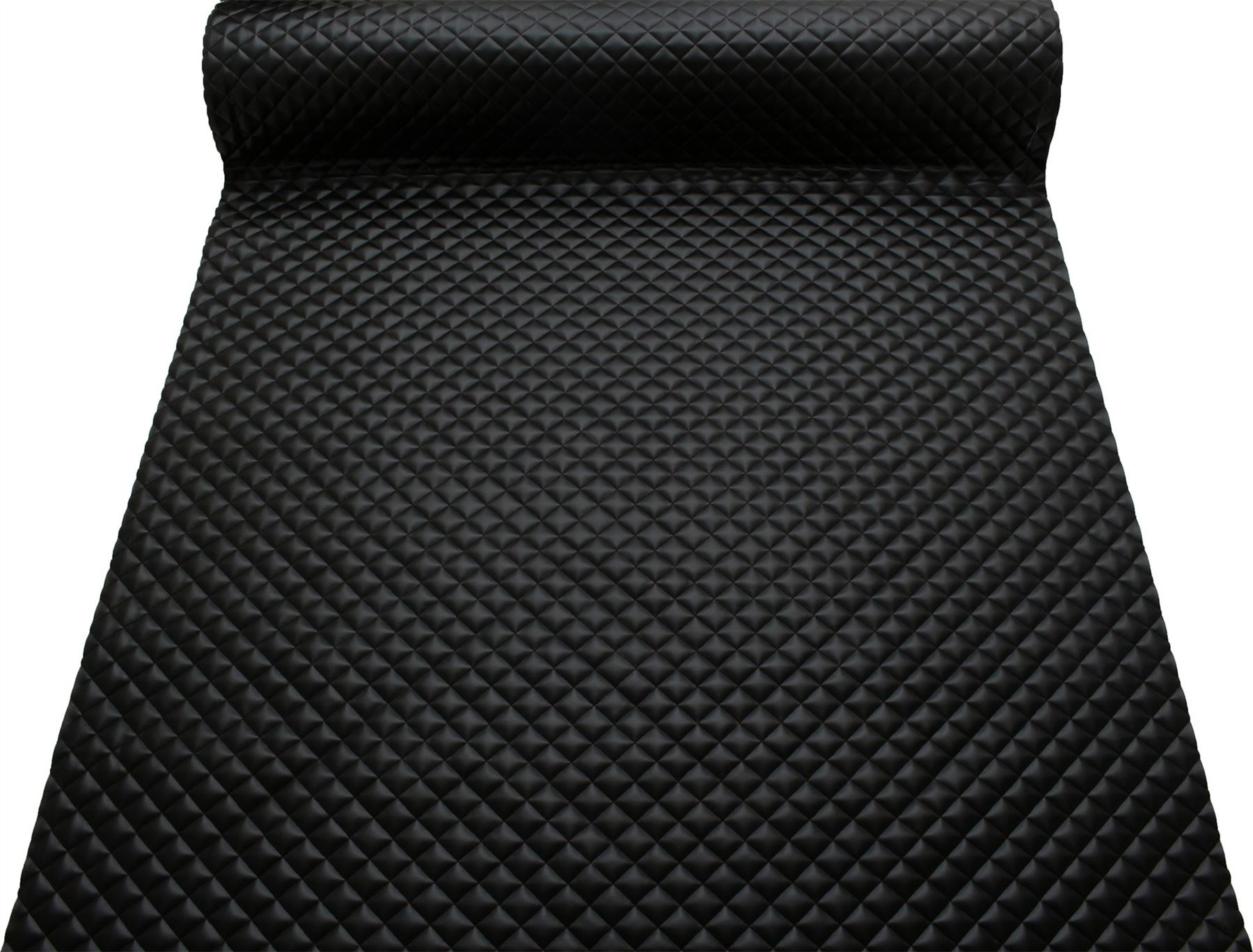 thumbnail 12 - Quilted leather Diamond Padded Cushion Faux Leather Interior Upholstery Fabric