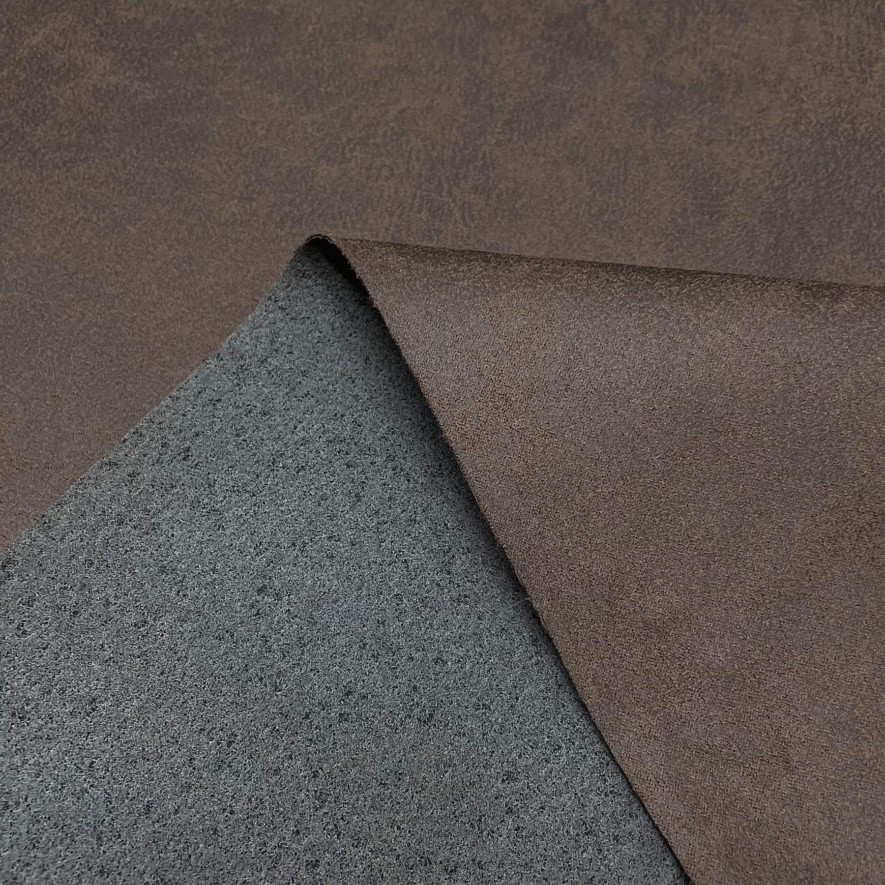 thumbnail 27 - AGED BROWN DISTRESSED ANTIQUED SUEDE FAUX LEATHER LEATHERETTE UPHOLSTERY FABRIC