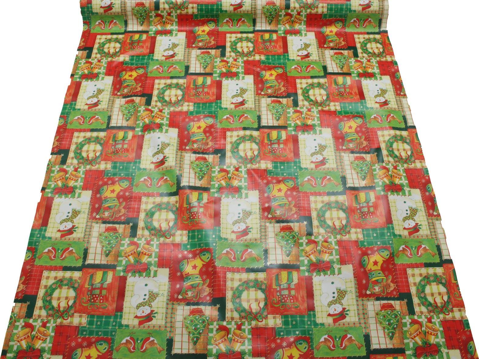 thumbnail 16 - CHRISTMAS PVC OILCLOTH VINYL FABRIC XMAS KITCHEN TABLE WIPECLEAN TABLECLOTHS