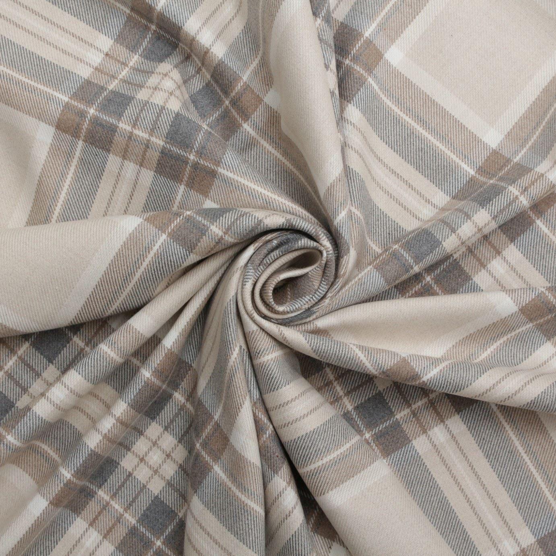 100 cotton tartan check pastel plaid faux wool sofa curtain upholstery fabric ebay. Black Bedroom Furniture Sets. Home Design Ideas