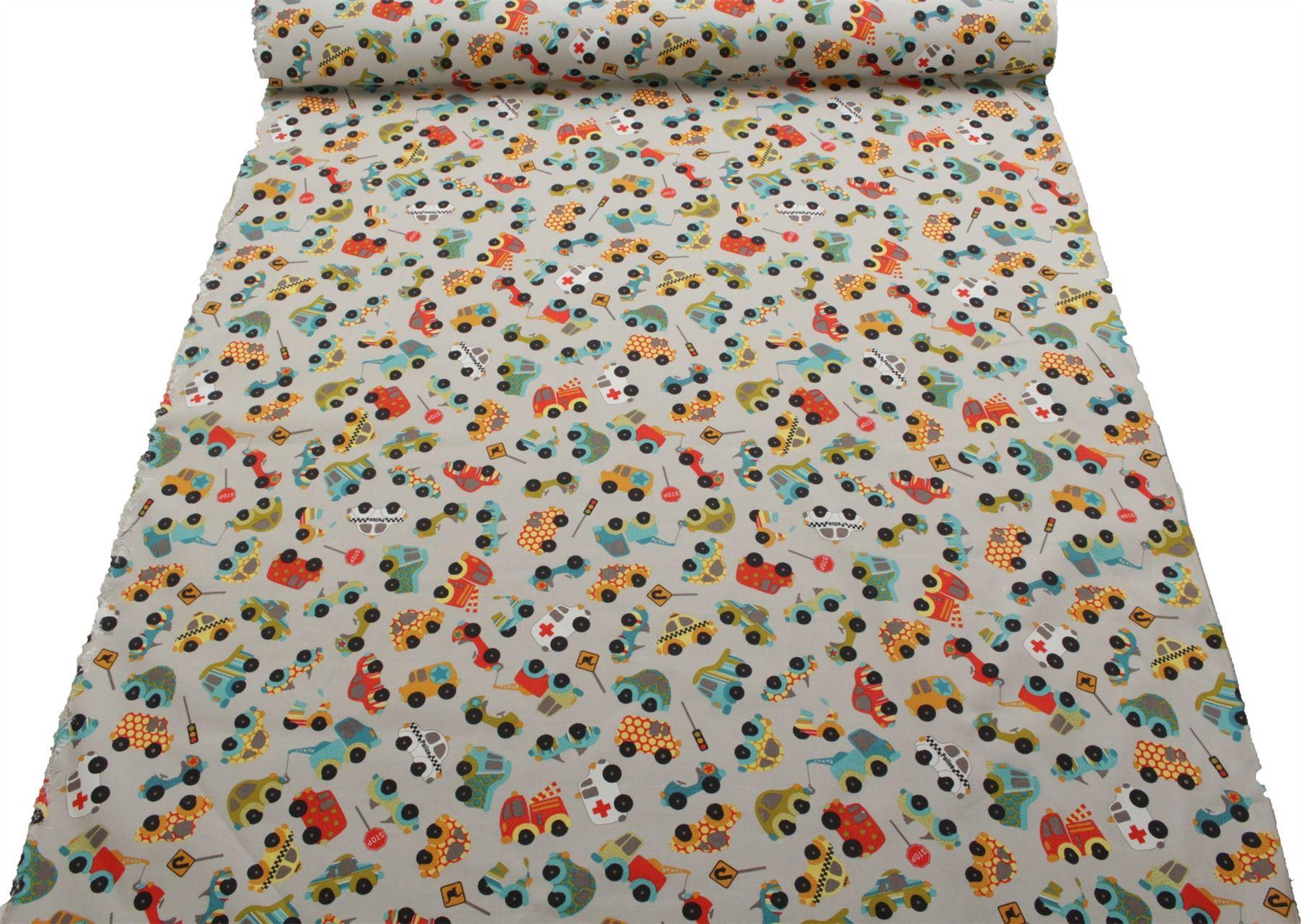 thumbnail 5 - 100% Heavy Cotton Panama Printed Childrens Curtain Cushion Upholstery Fabric