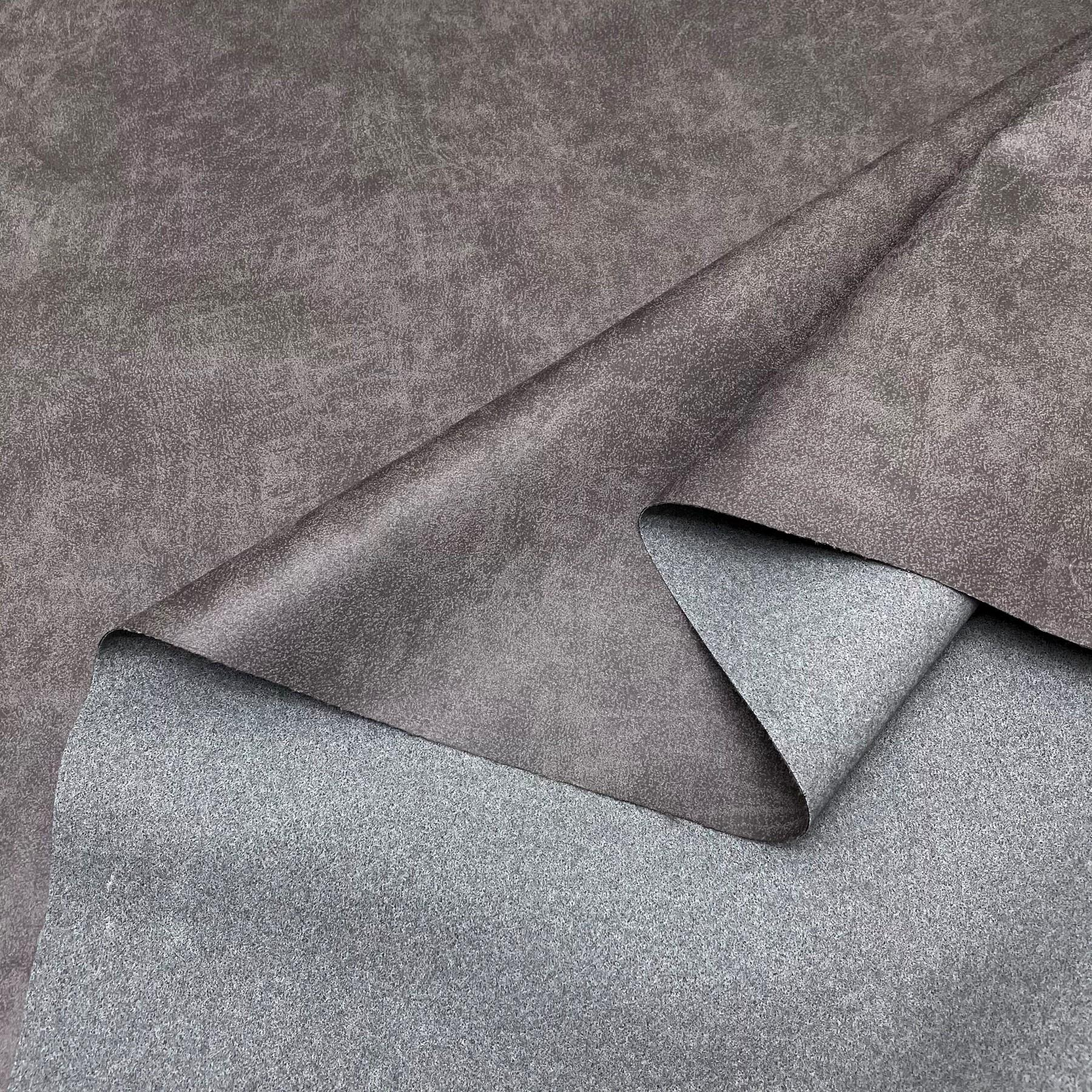 thumbnail 39 - AGED BROWN DISTRESSED ANTIQUED SUEDE FAUX LEATHER LEATHERETTE UPHOLSTERY FABRIC