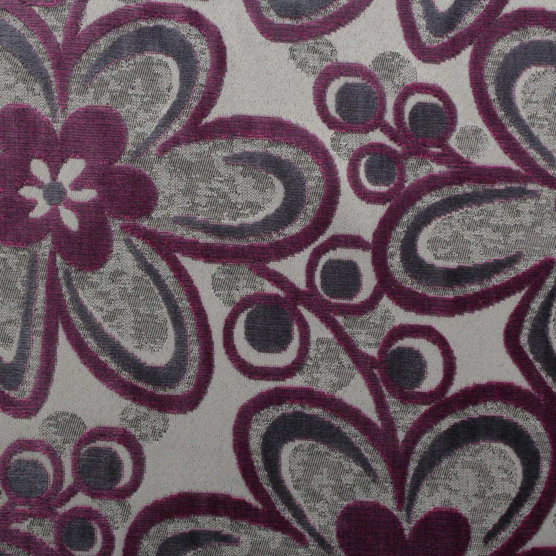 gehoben samt blumenmuster flower power vorhang polster einrichtung stoff ebay. Black Bedroom Furniture Sets. Home Design Ideas