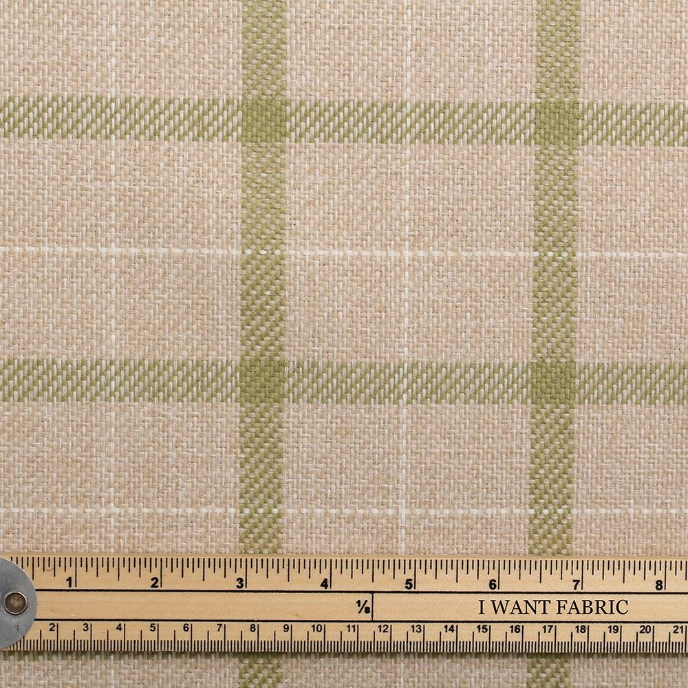 next fabrics sage green natural white tartan check window pane