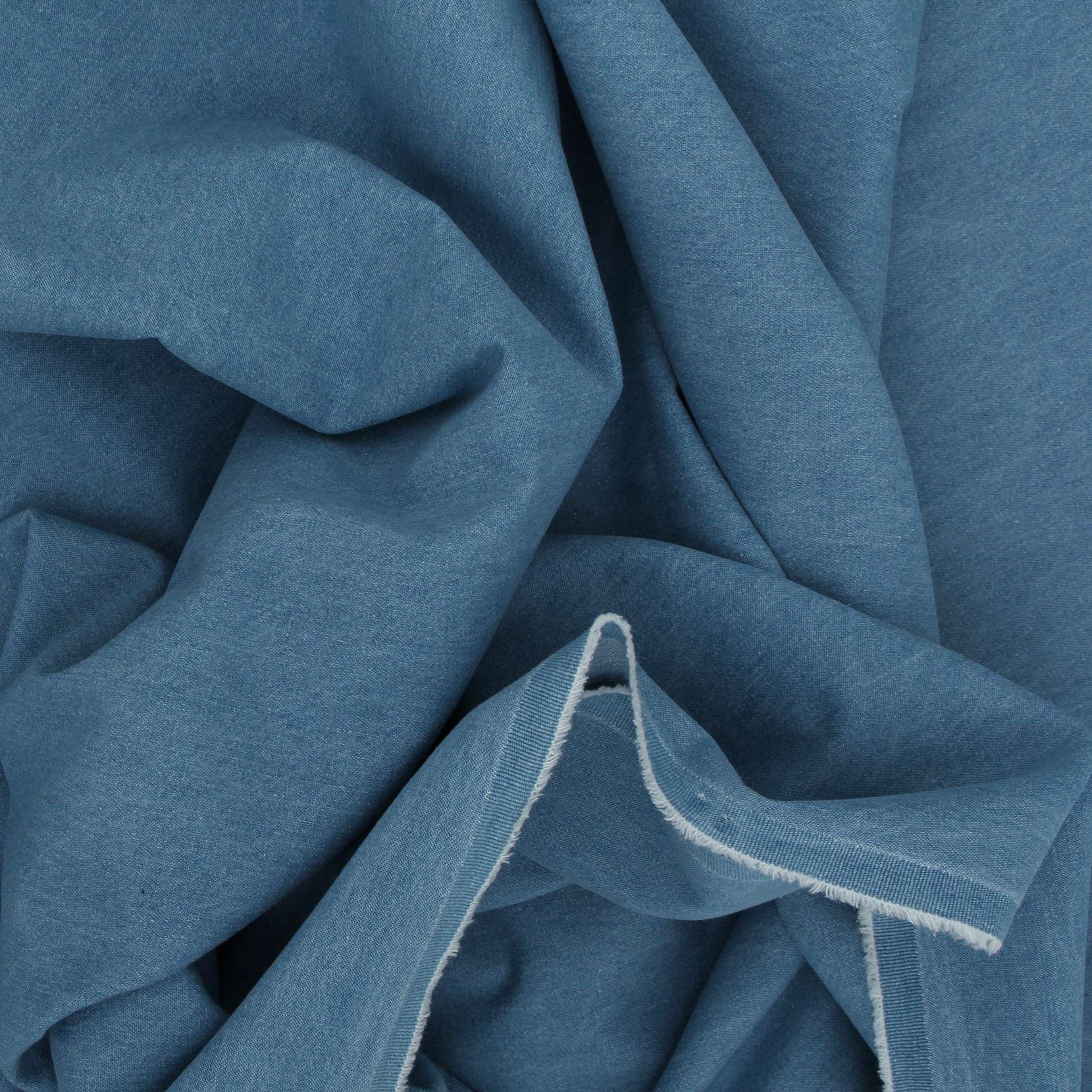 thumbnail 3 - 100% COTTON HEAVYWEIGHT WASHED DENIM CRAFT CLOTHING DRESS SEWING FABRIC