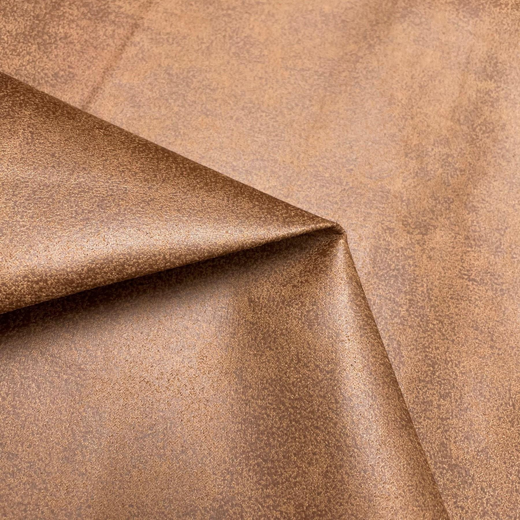 thumbnail 49 - AGED BROWN DISTRESSED ANTIQUED SUEDE FAUX LEATHER LEATHERETTE UPHOLSTERY FABRIC