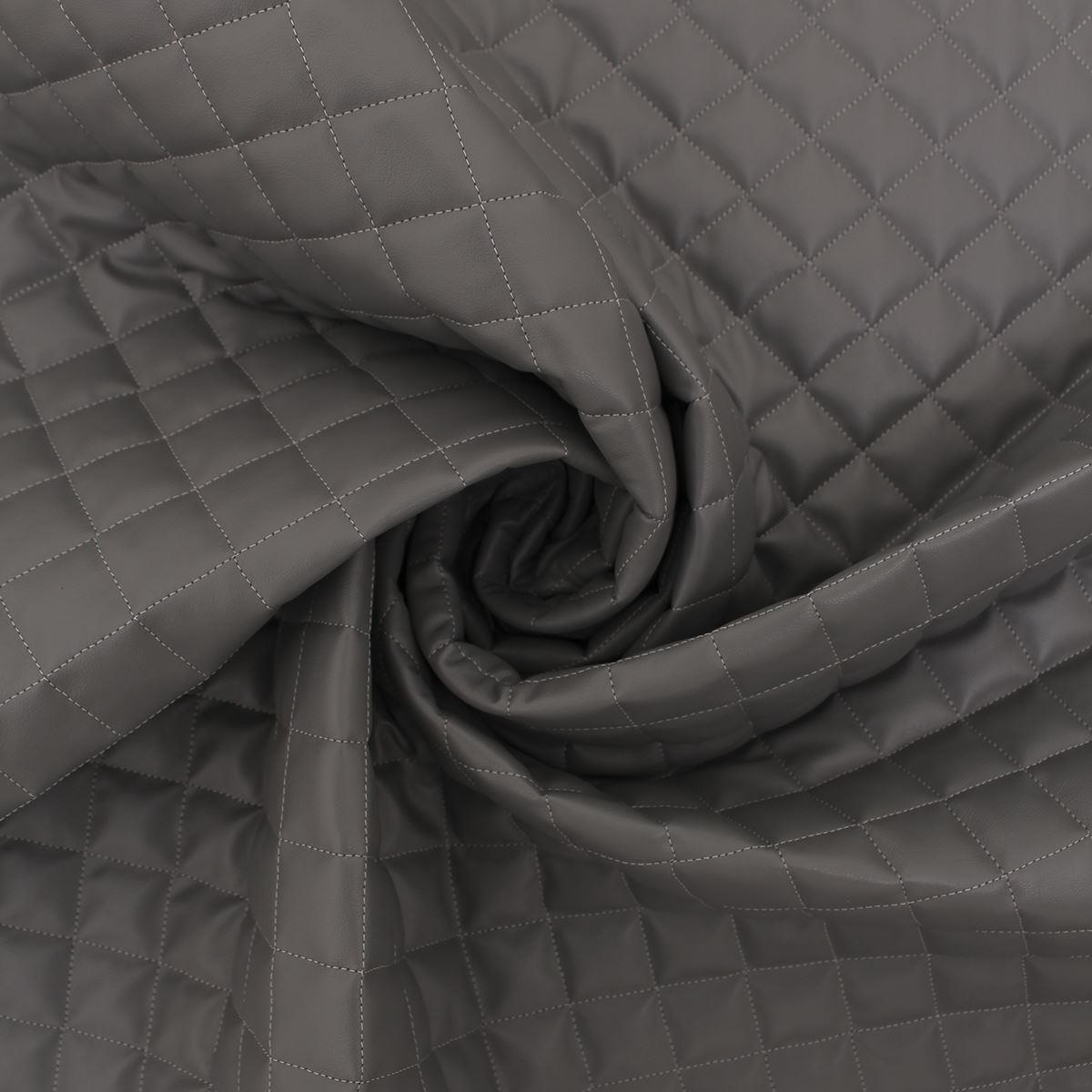 thumbnail 26 - Quilted leather Diamond Padded Cushion Faux Leather Interior Upholstery Fabric