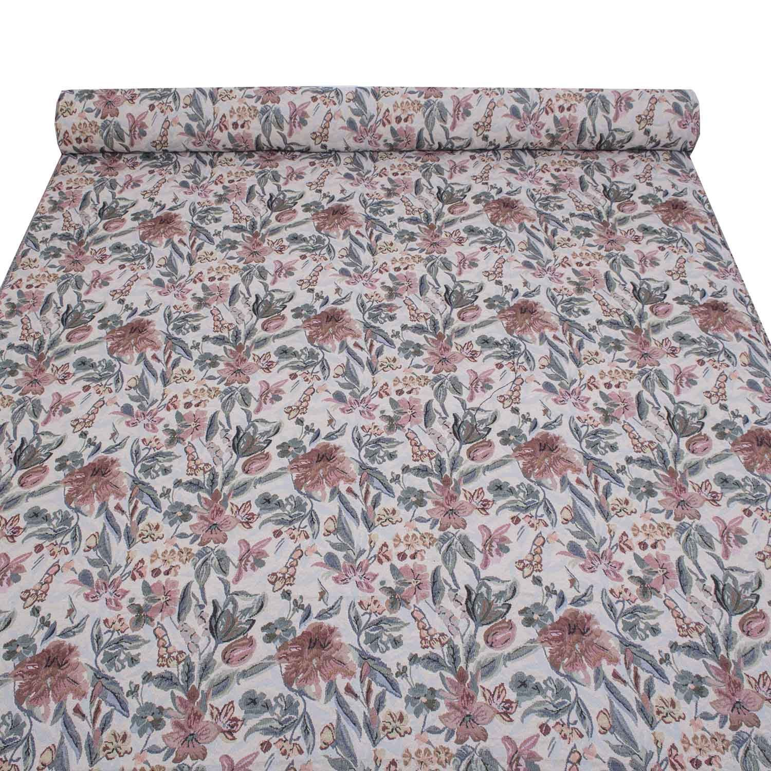 TRADITIONAL FLORAL FLOWERS TAPESTRY SOFT UPHOLSTERY CURTAINS SOFA