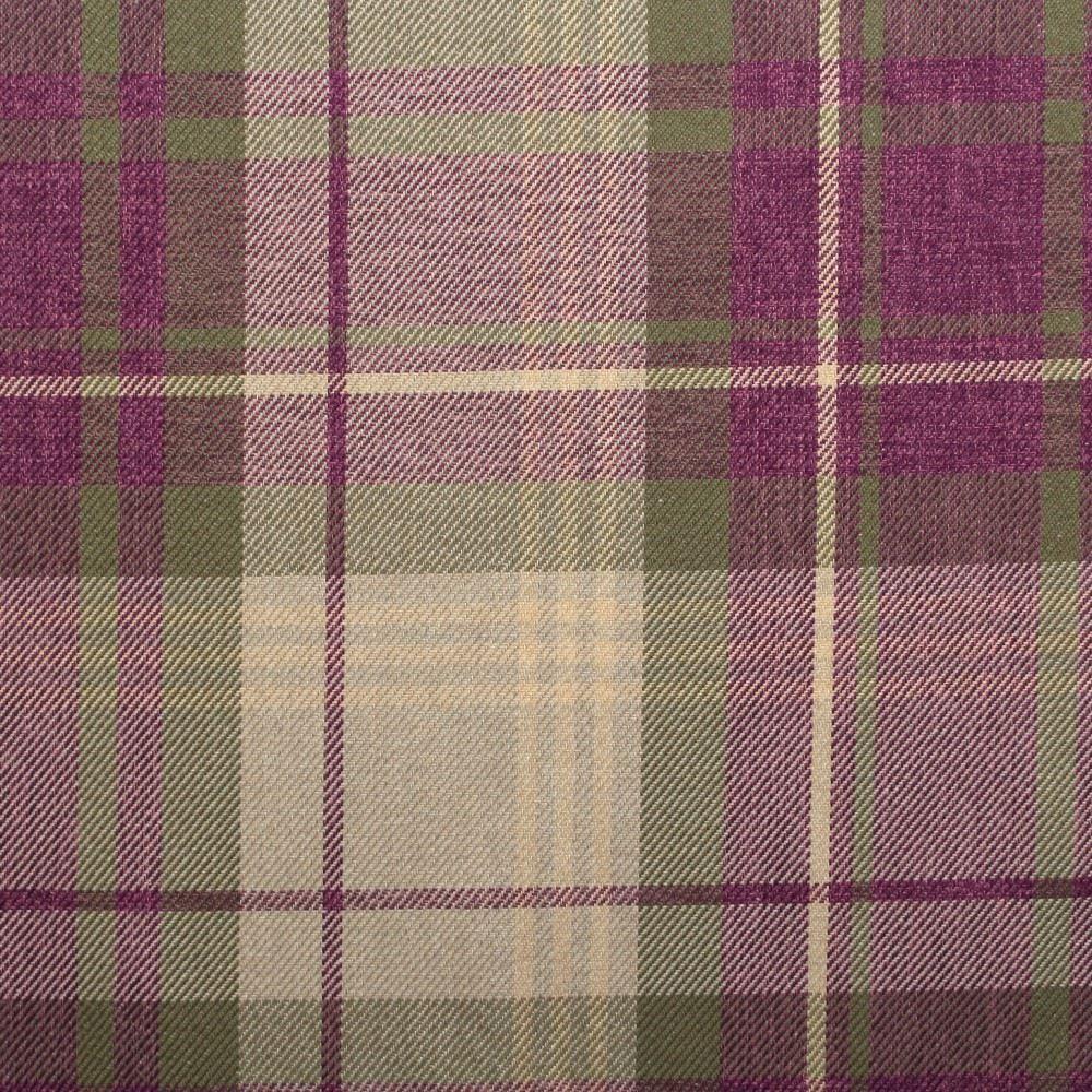 Classic Design Soft Tartan Large Check Faux Wool MultiColour Sofa ...
